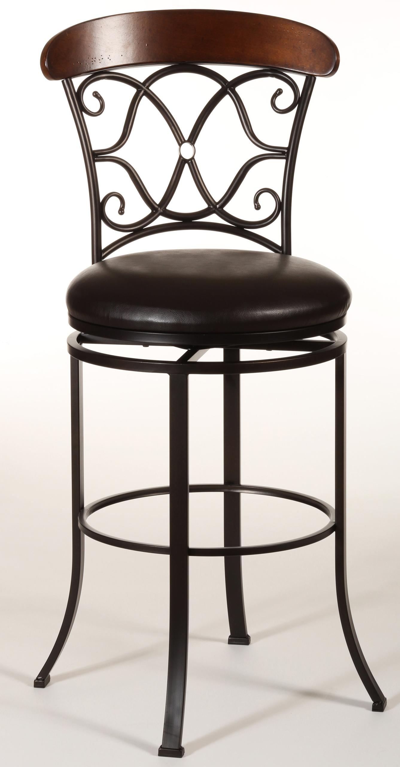 Hillsdale Metal Stools Dundee Swivel Counter Stool