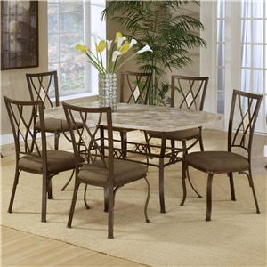 Hillsdale Brookside Five Piece Counter Height Dining Set With Diamond Back St