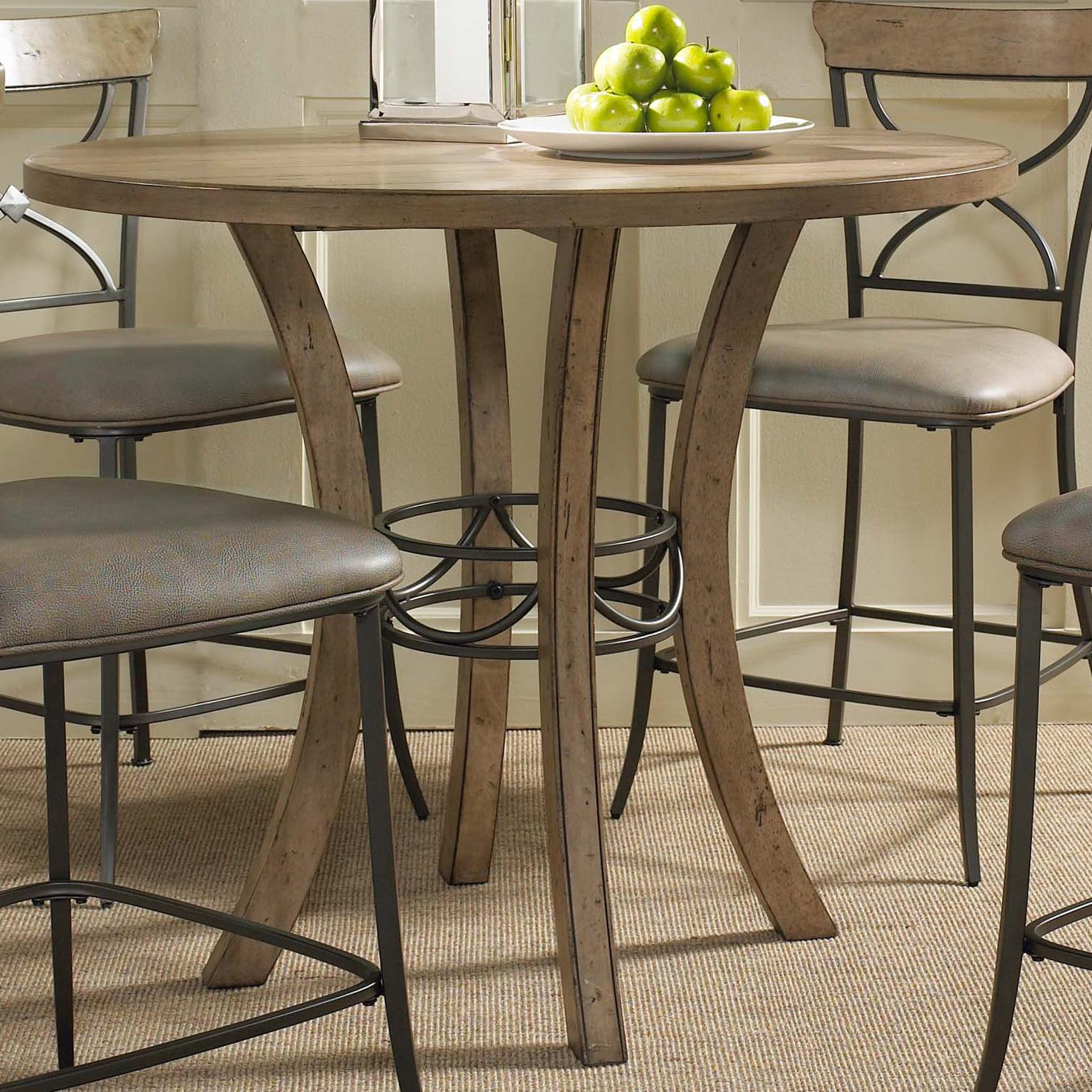 hillsdale charleston round counter height table w wood olinde 39 s furniture pub table. Black Bedroom Furniture Sets. Home Design Ideas