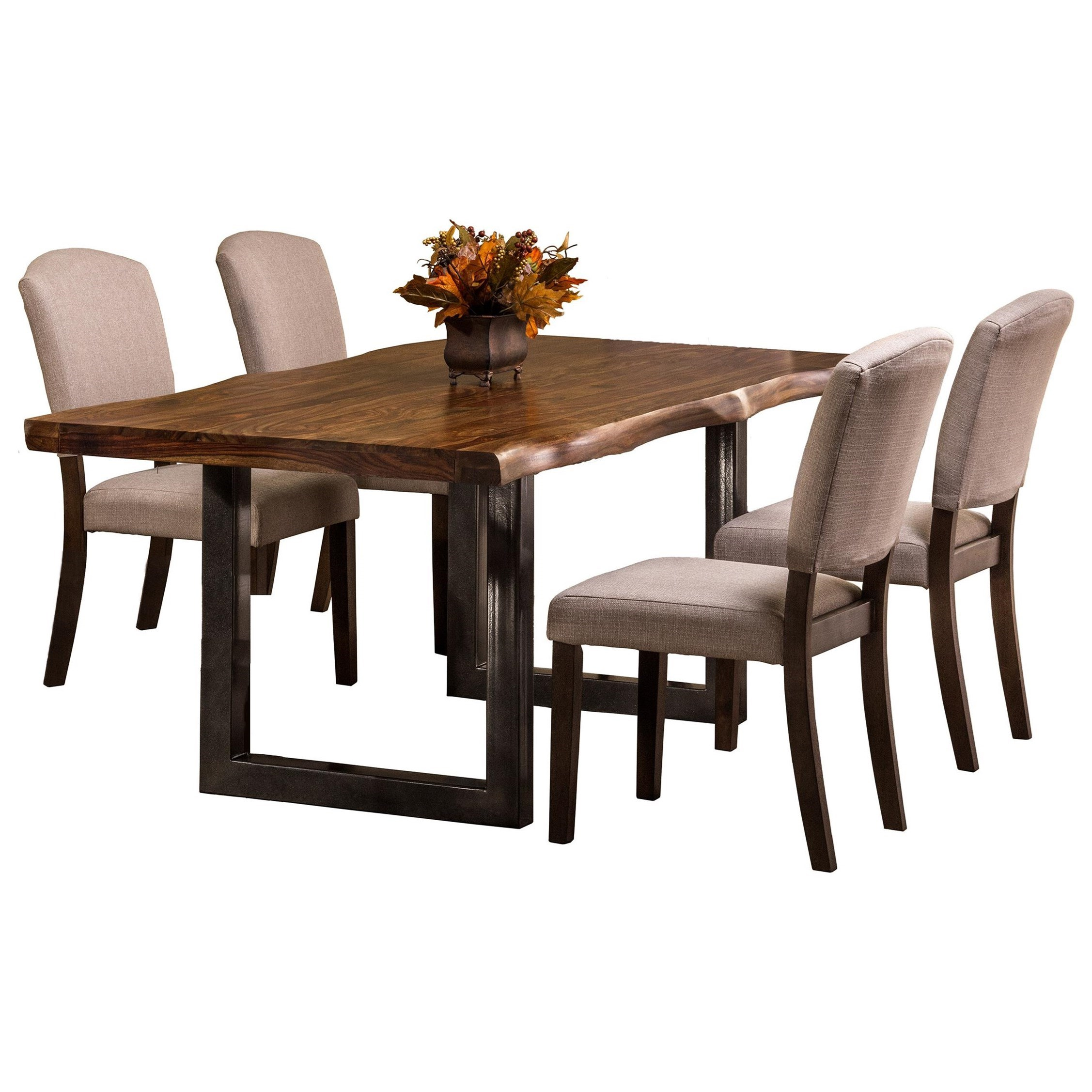 Hillsdale emerson natural sheesham wood rectangular dining table olinde 39 s furniture dining - Rectangle kitchen tables ...