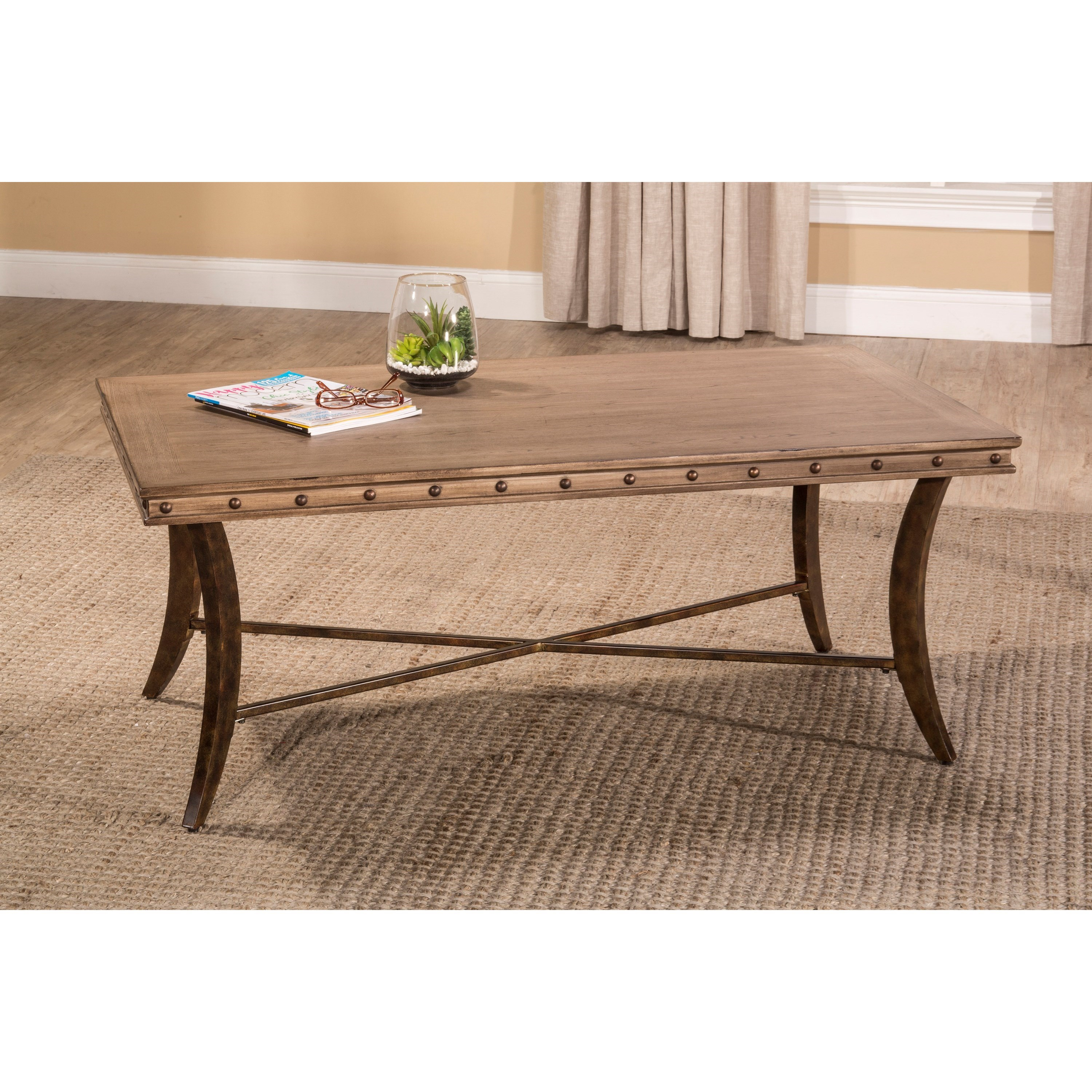 Hillsdale emmons 5984 881 coffee table with stud detailing for Coffee table with studs