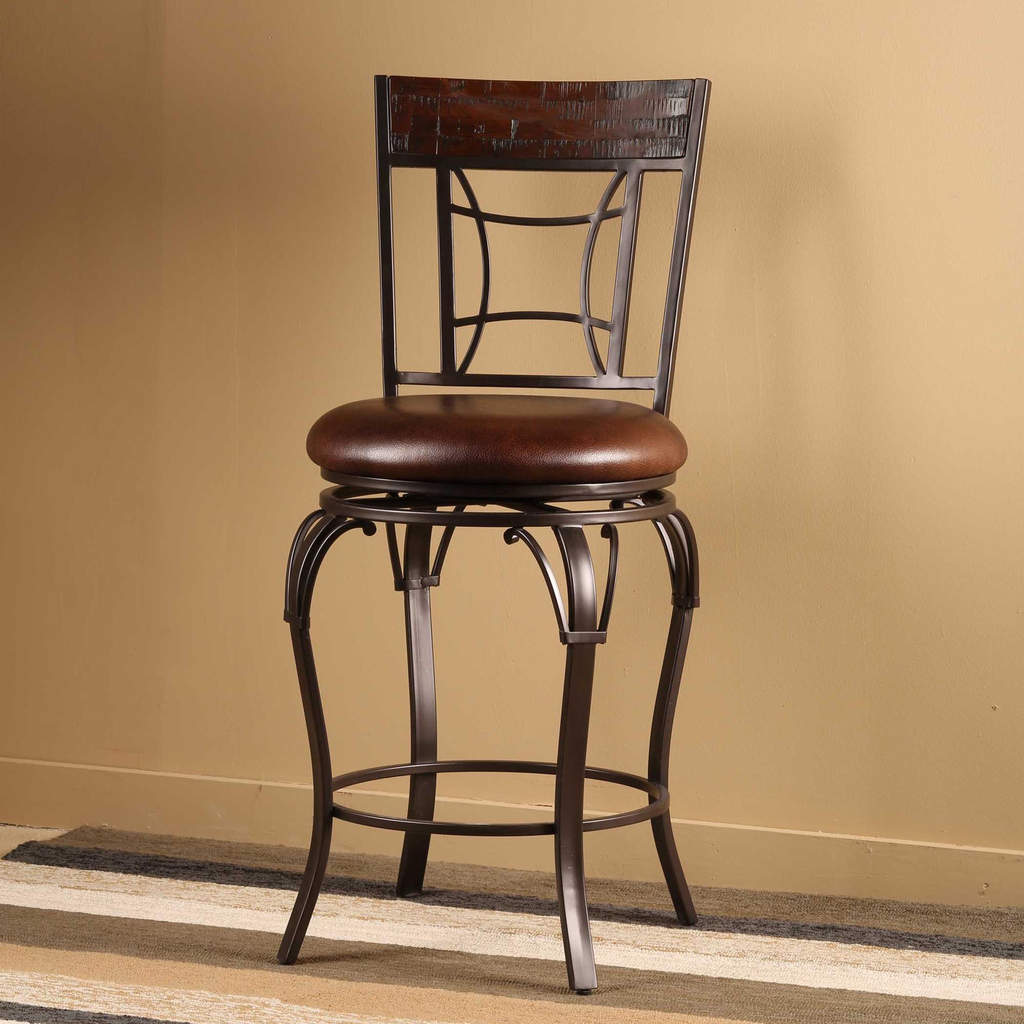 Granada Swivel Bar Stool W Upholstered Seat By Hillsdale