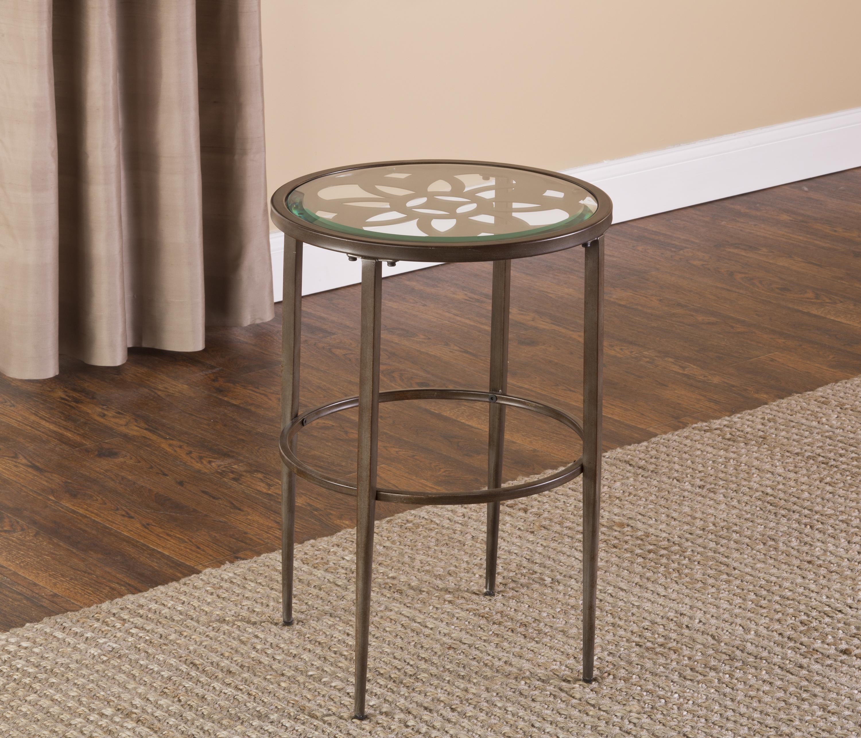 Hillsdale marsala 5497 880 end table dunk bright for Bright colored side tables