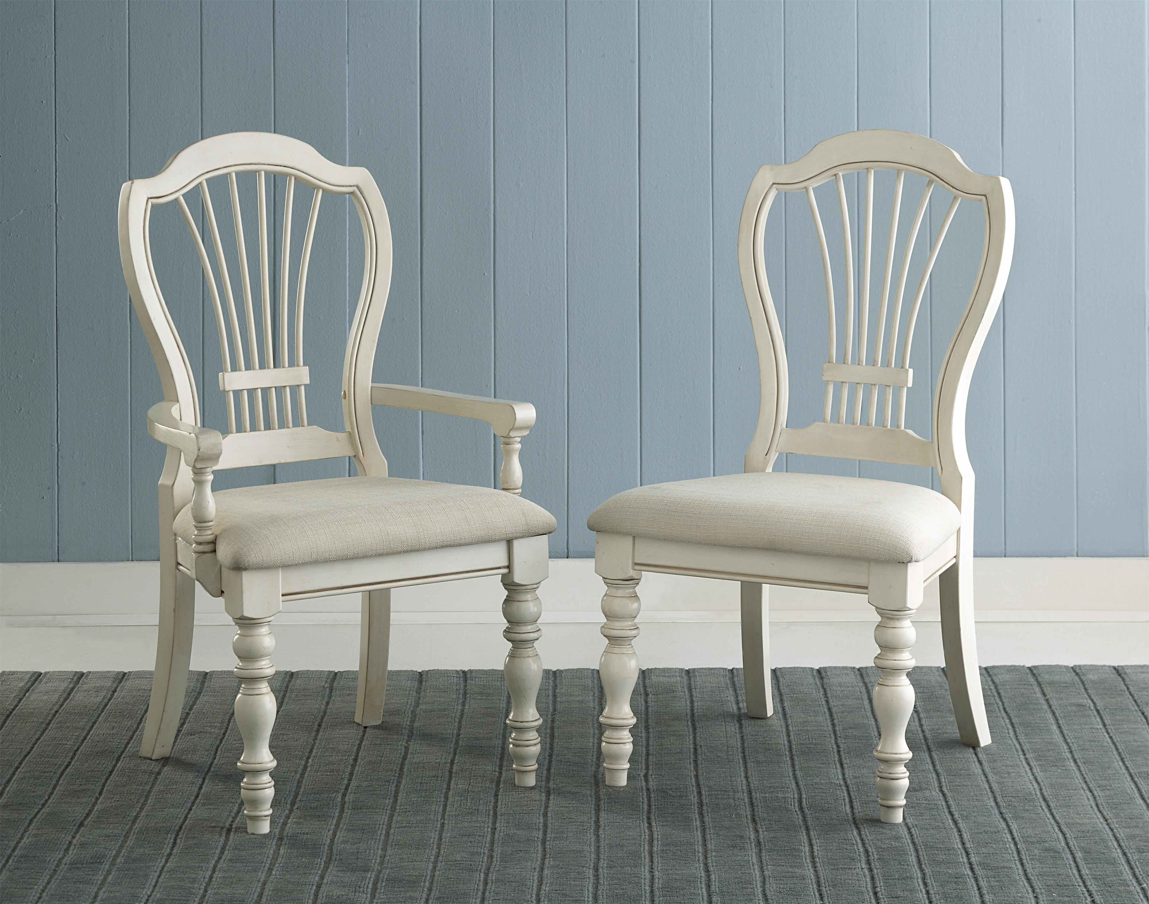 Pine Island Dining Side Chair with Harp Back by Hillsdale