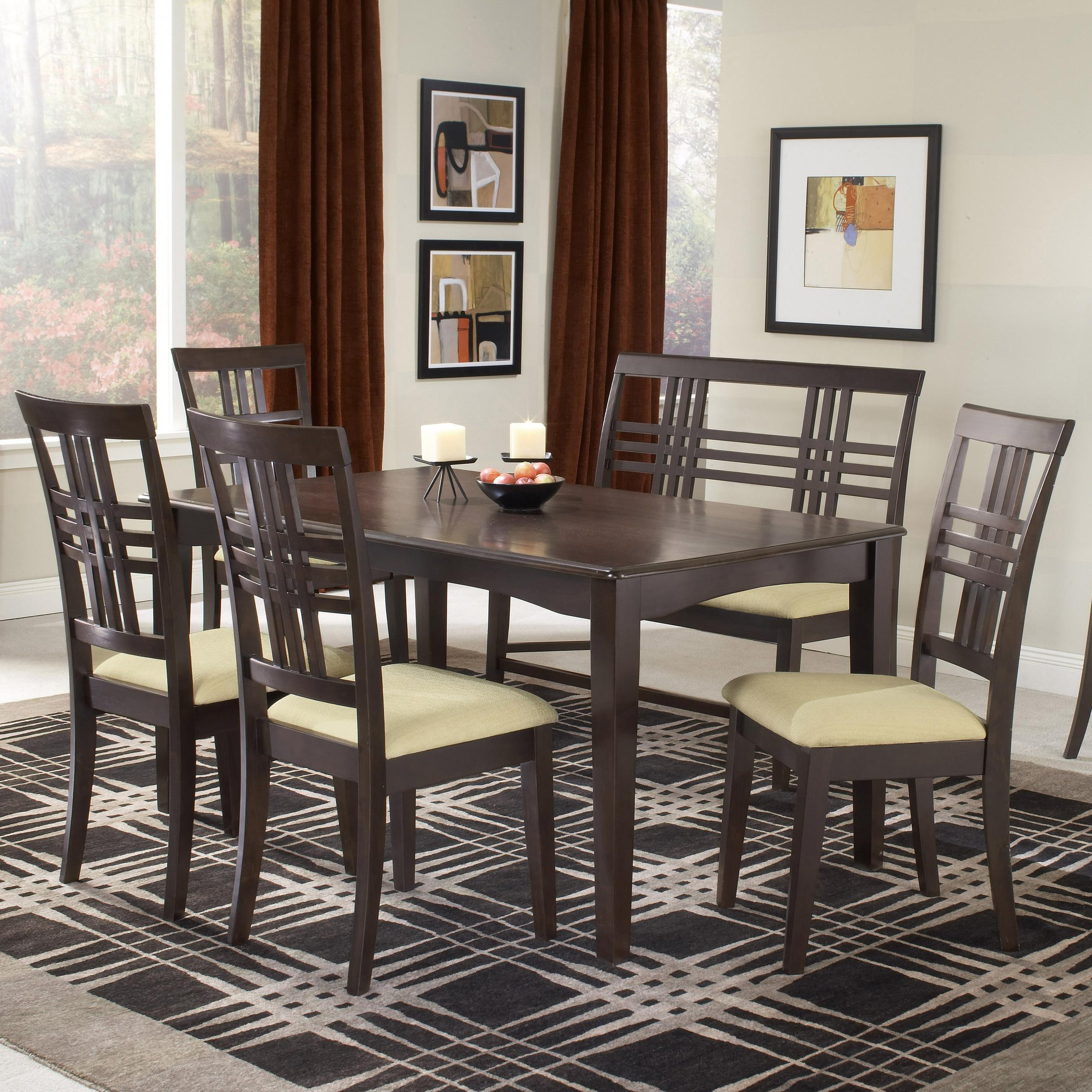 Hillsdale tiburon 36 x 60 fix top dining table olinde 39 s for Dining room table 60 x 36