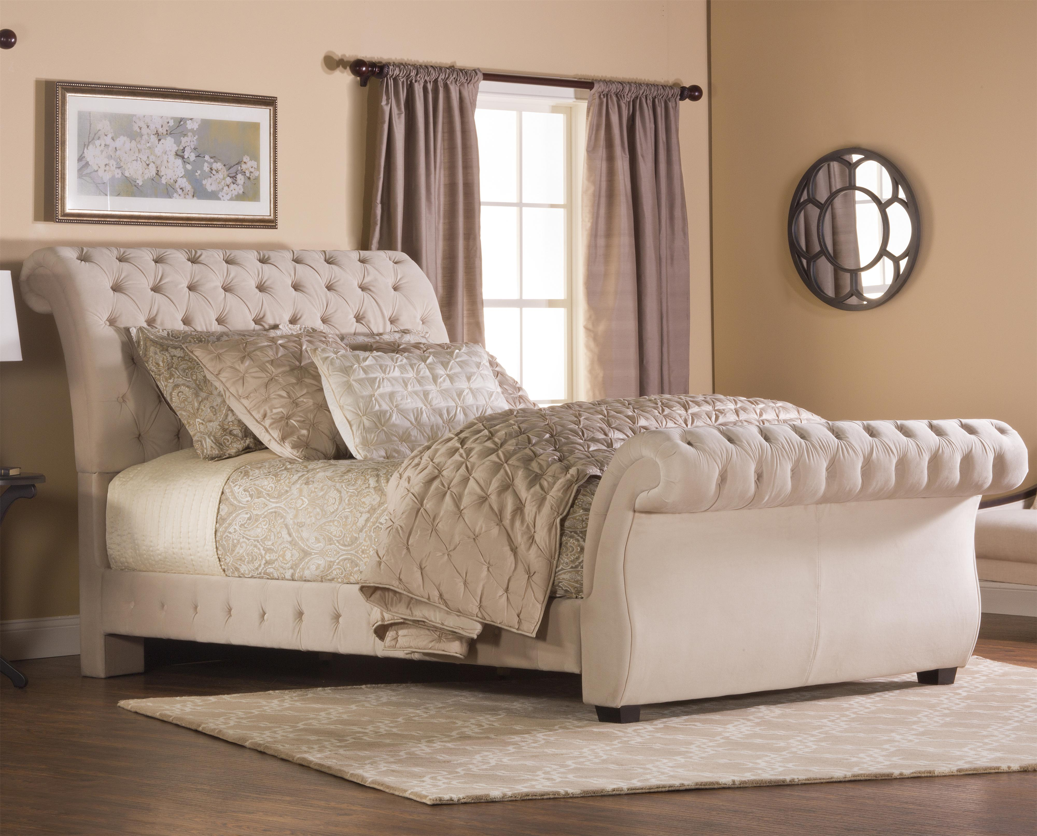 Hillsdale upholstered beds king bombay upholstered bed for Upholstered beds
