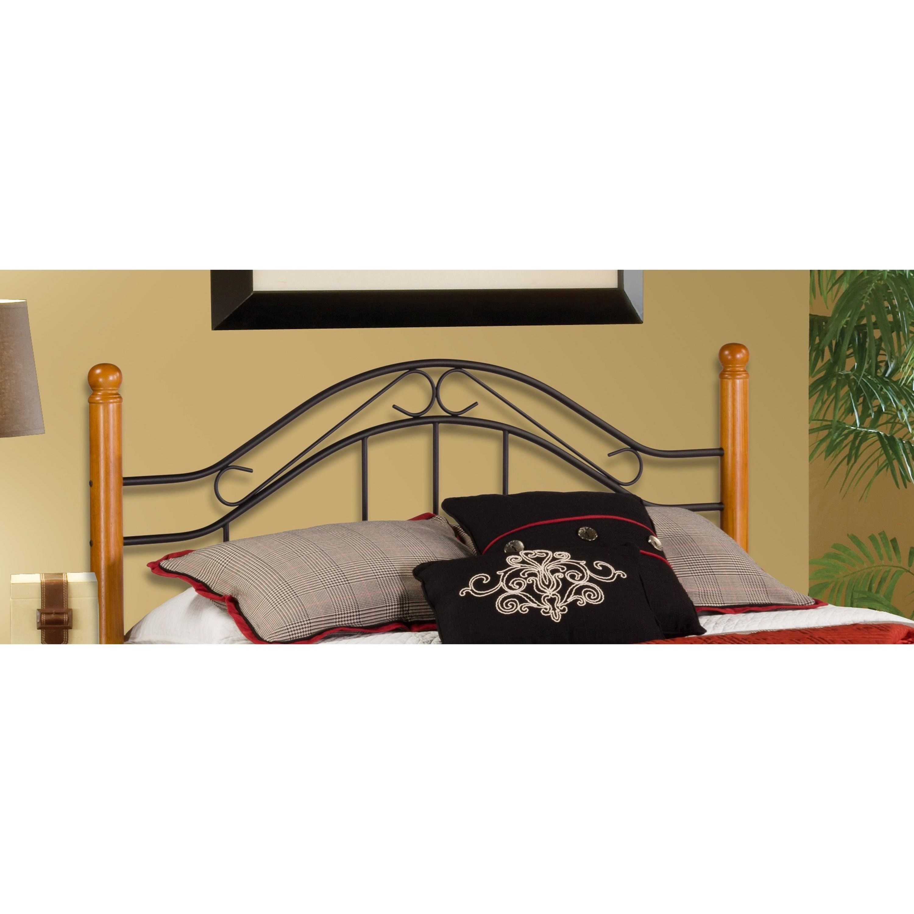 hillsdale wood beds full queen headboard with rails vandrie home furnishings headboards. Black Bedroom Furniture Sets. Home Design Ideas