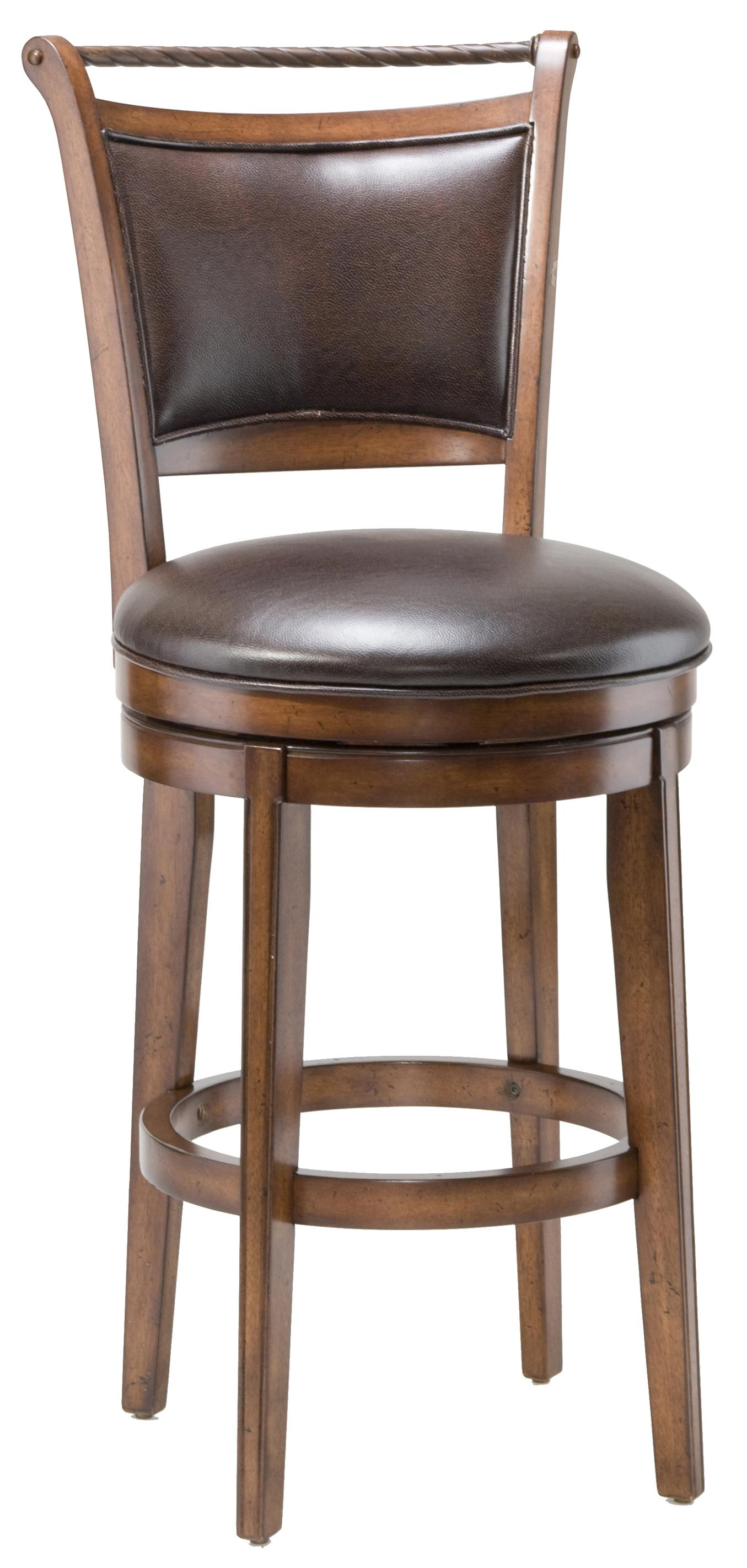 Wood stools 30 bar height calais swivel stool by for Counter height swivel bar stools