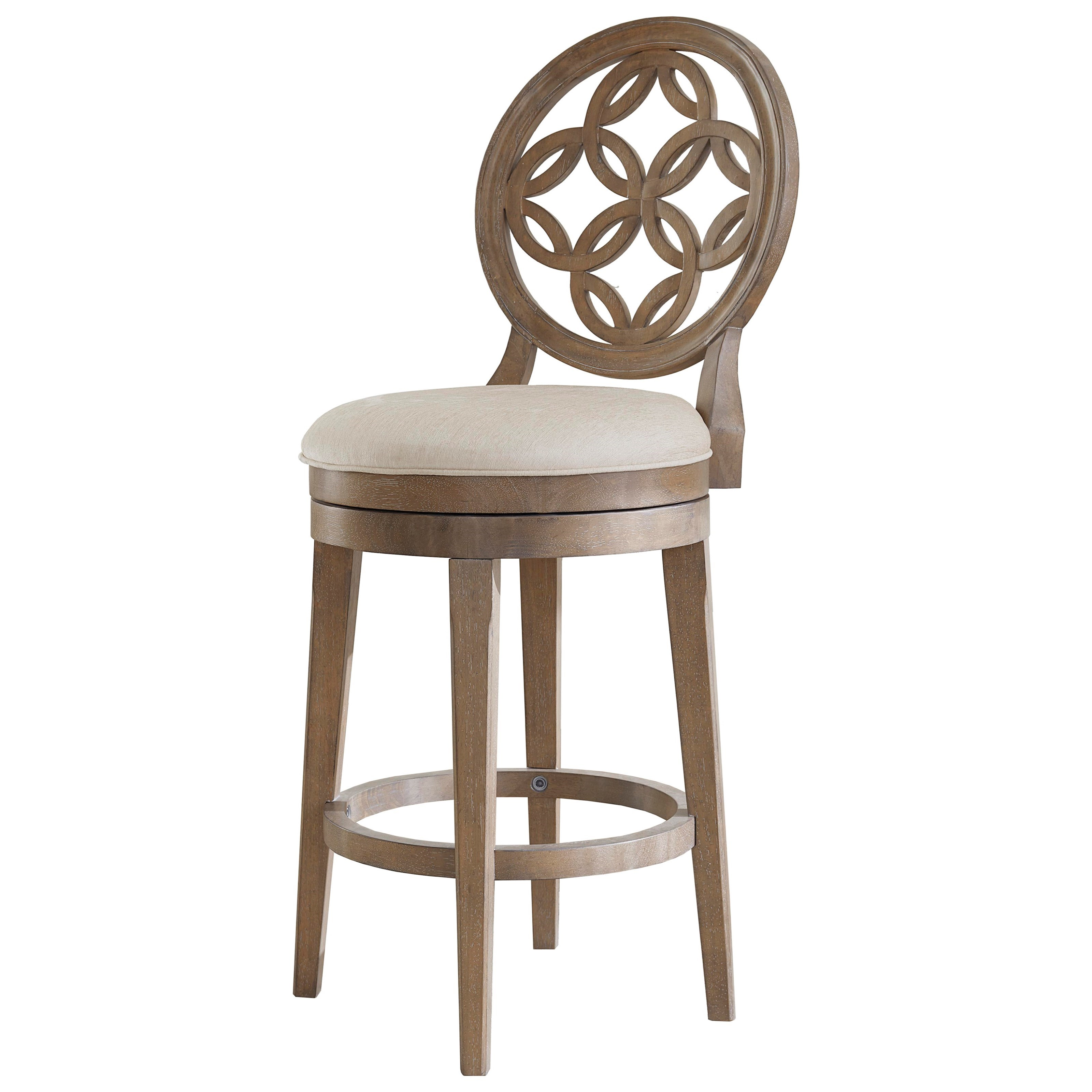 Hillsdale wood stools swivel counter height stool for Bar stool height