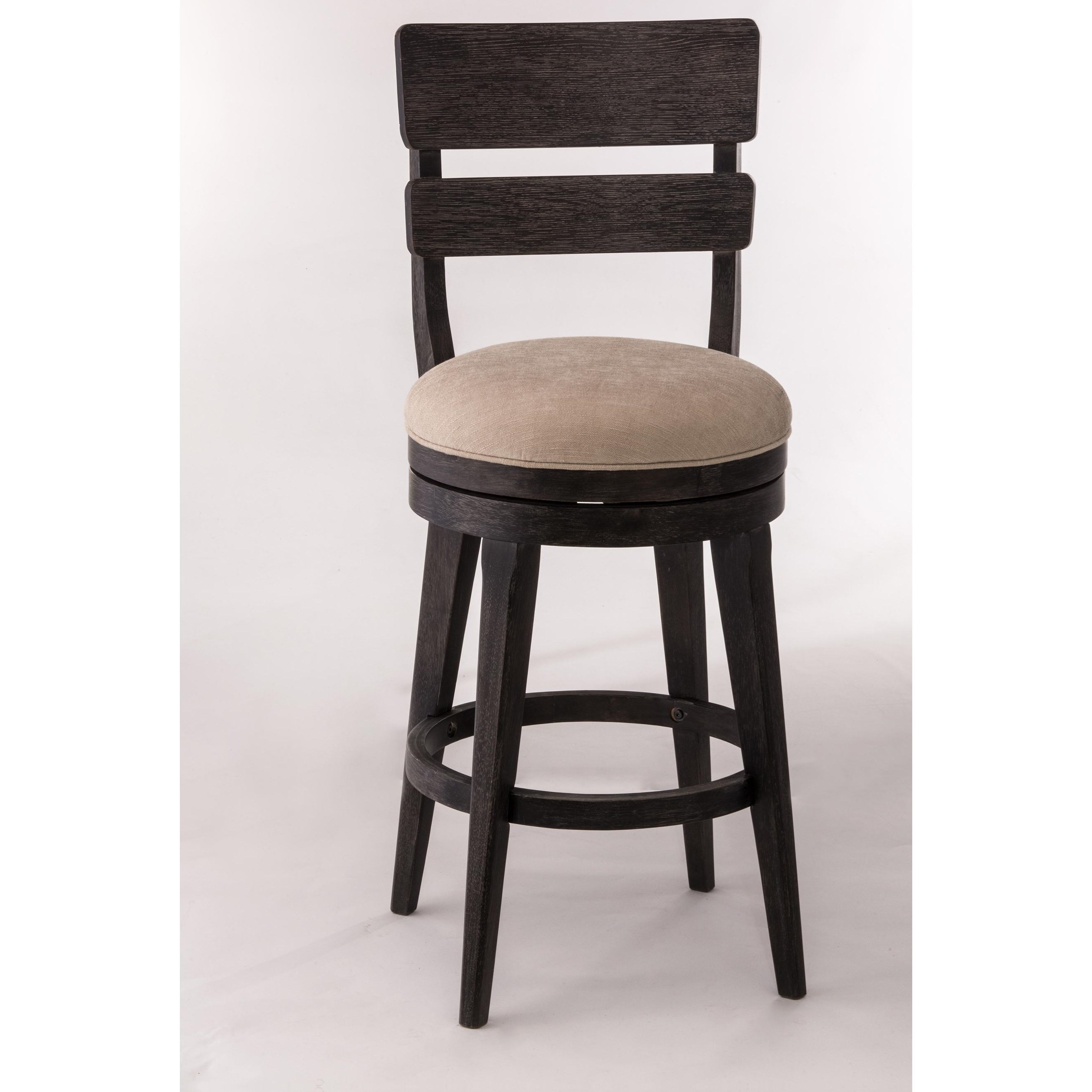 Hillsdale Wood Stools Upholstered Swivel Counter Stool