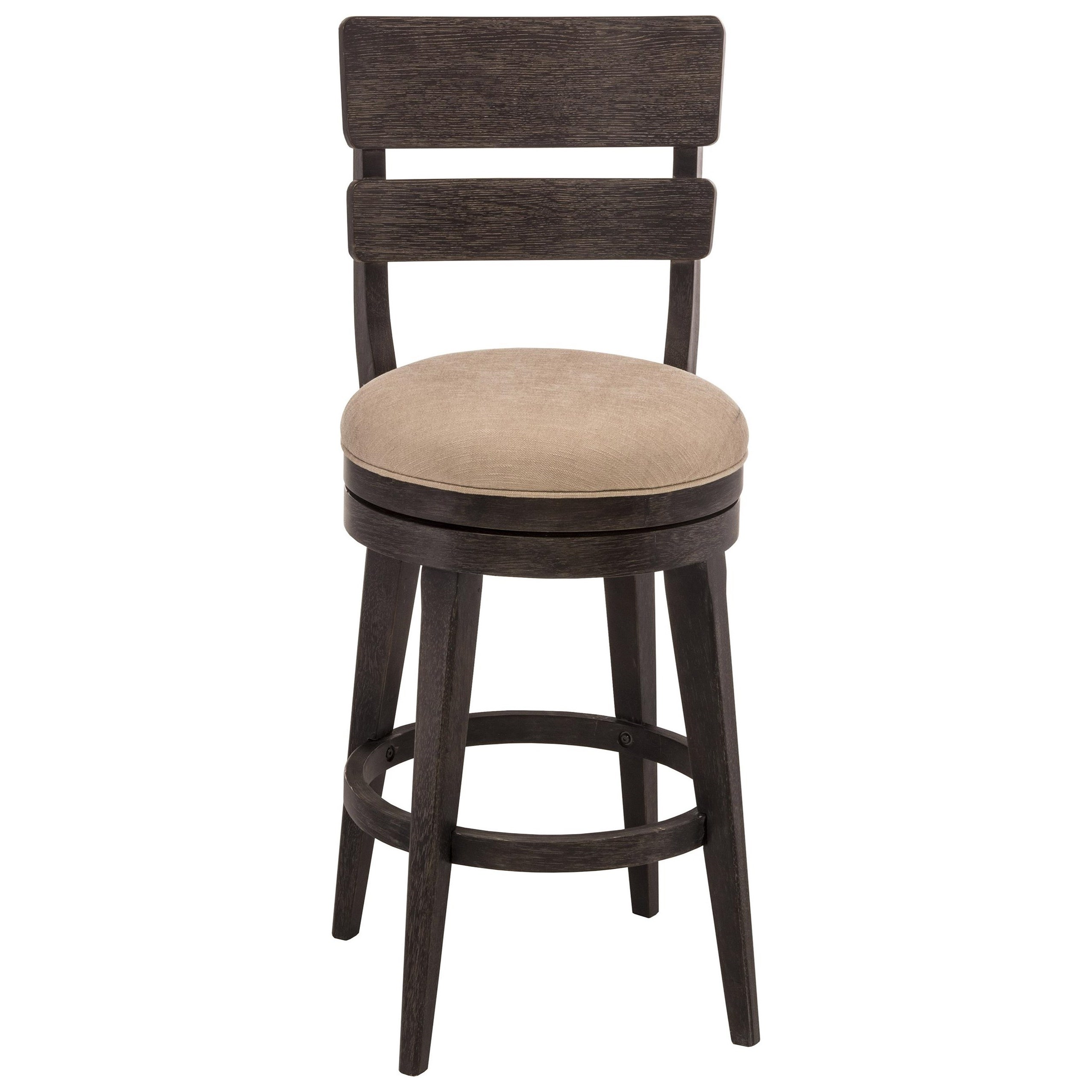 Hillsdale wood stools upholstered swivel counter