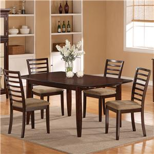 Holland House 1237 Dining Five Piece Butterfly Leaf Table