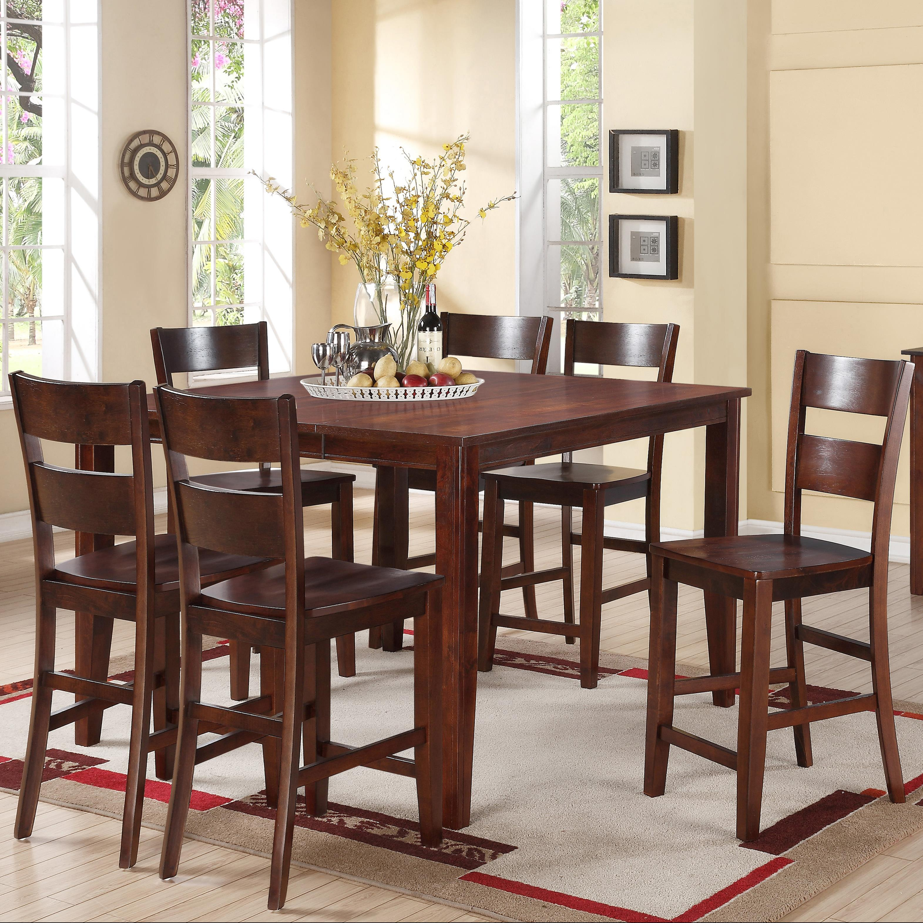 holland house 8203 7 piece counter height dining set with On holland house dining room furniture