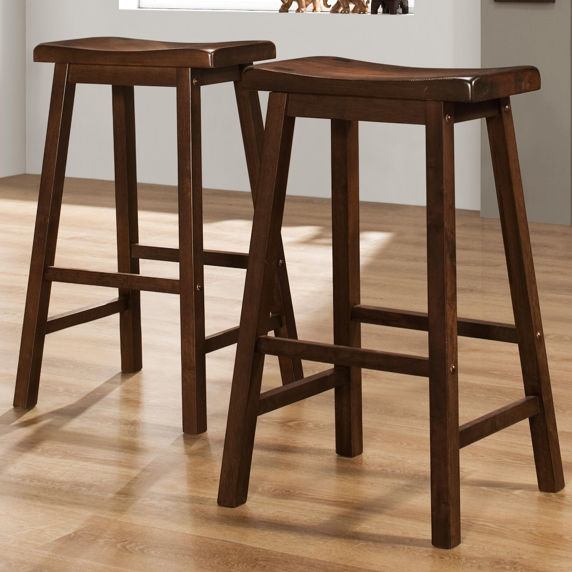 Homelegance 5302 29 Inch Stool With Curved Saddle Seat Value City Furniture Bar Stools