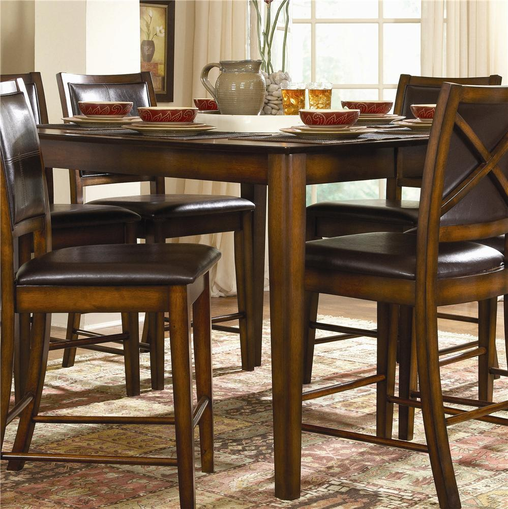 Homelegance verona 7 piece counter height dining set with for Hudsons furniture