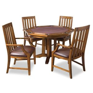 Home styles arts and crafts convertible dining game table for Arts and crafts 5 piece dining set