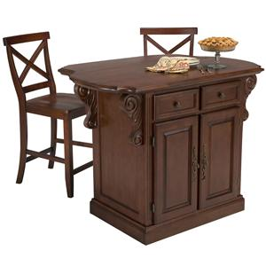 buy a kitchen island home styles traditions kitchen island w 2 bar stools 5007