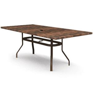homecrest holly hill hammered metal rectangular dining table with