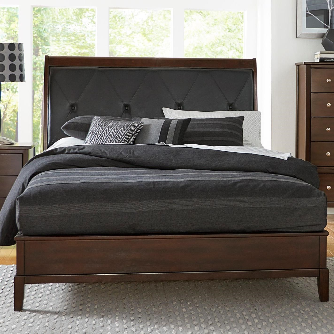 Homelegance cotterill contemporary queen bed with diamond for Harlowe bed