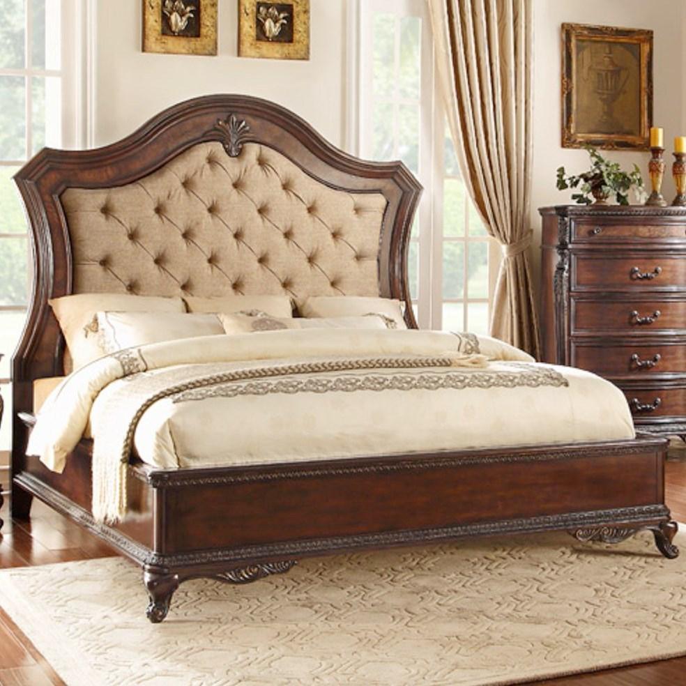 homelegance bonaventure 1935 queen low profile bed. Black Bedroom Furniture Sets. Home Design Ideas