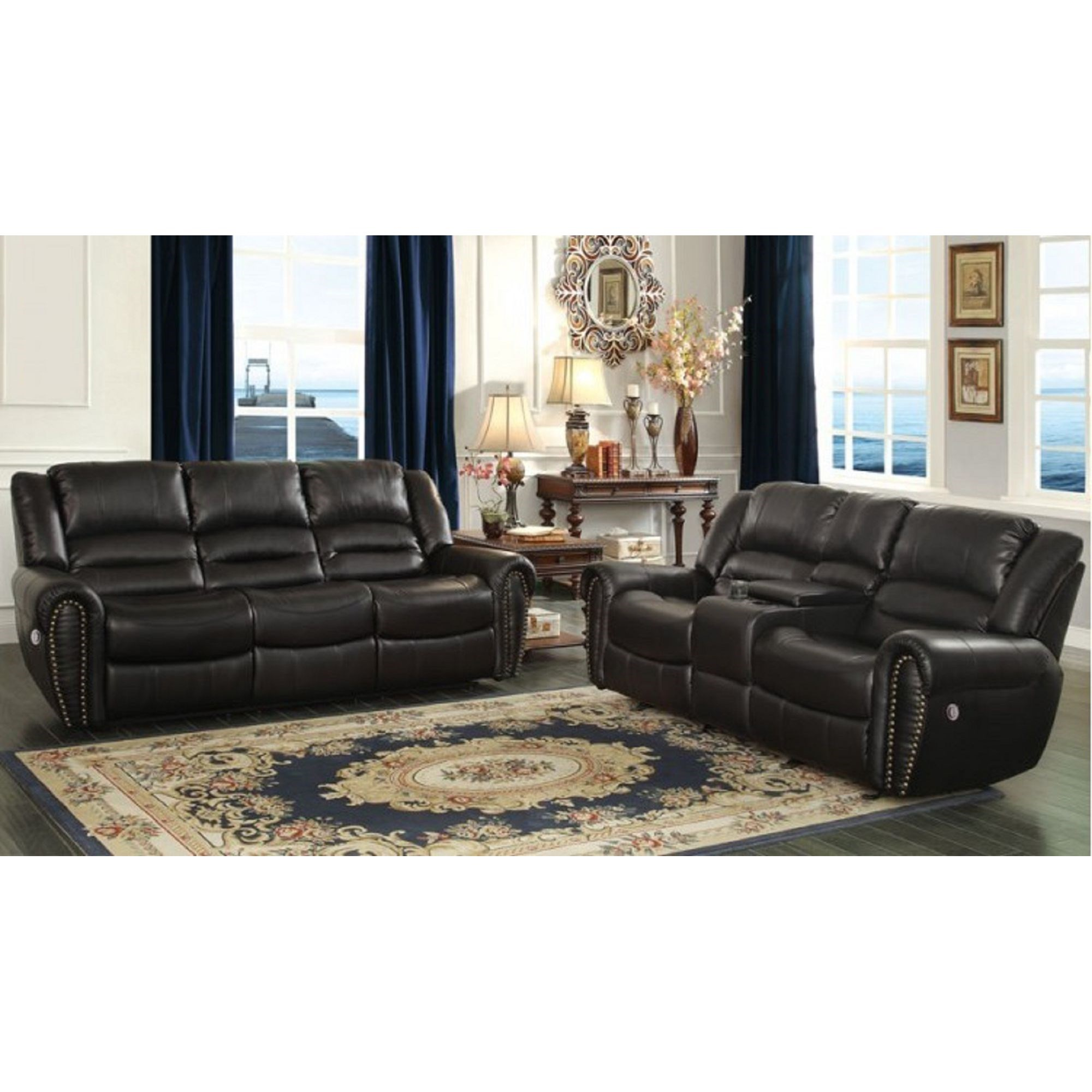 Homelegance center hill traditional power reclining living for Living room furniture groups