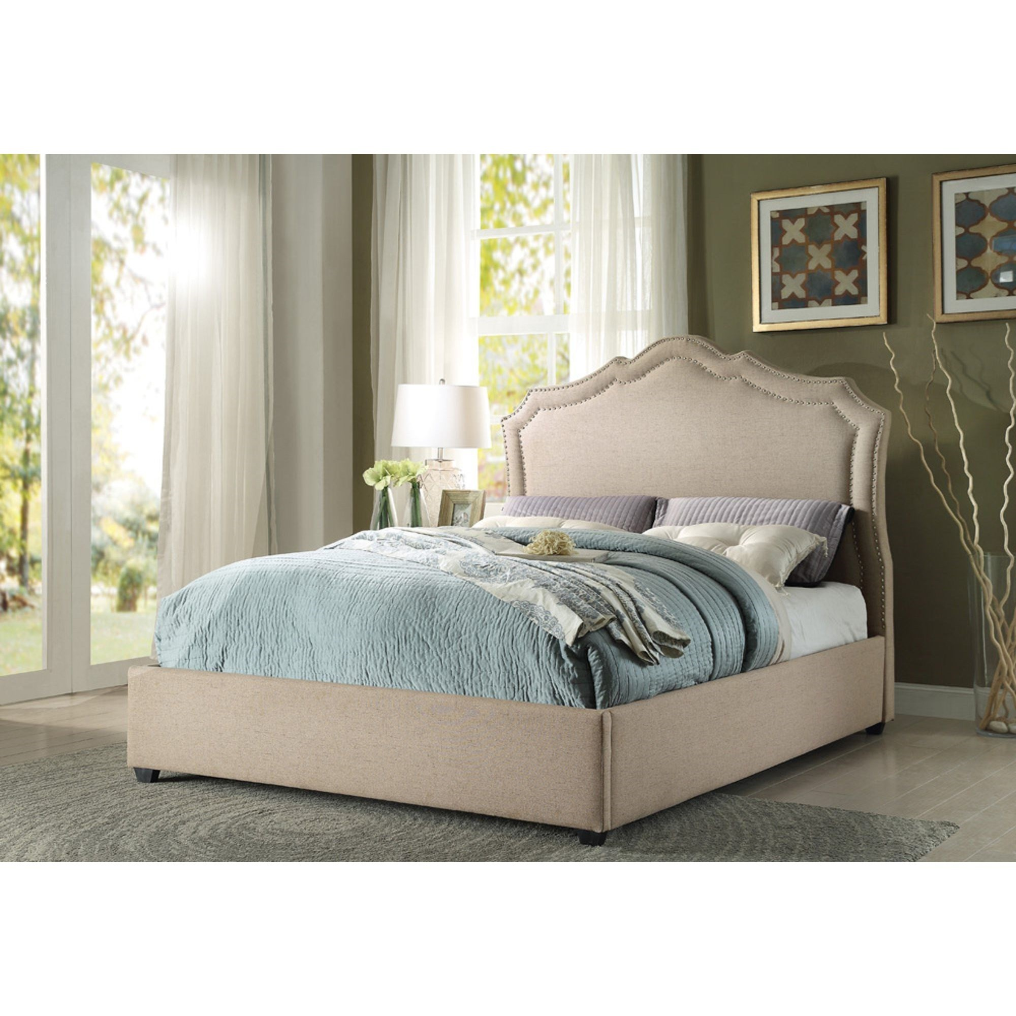 value city headboards homelegance delphine transitional king platform bed with 13709