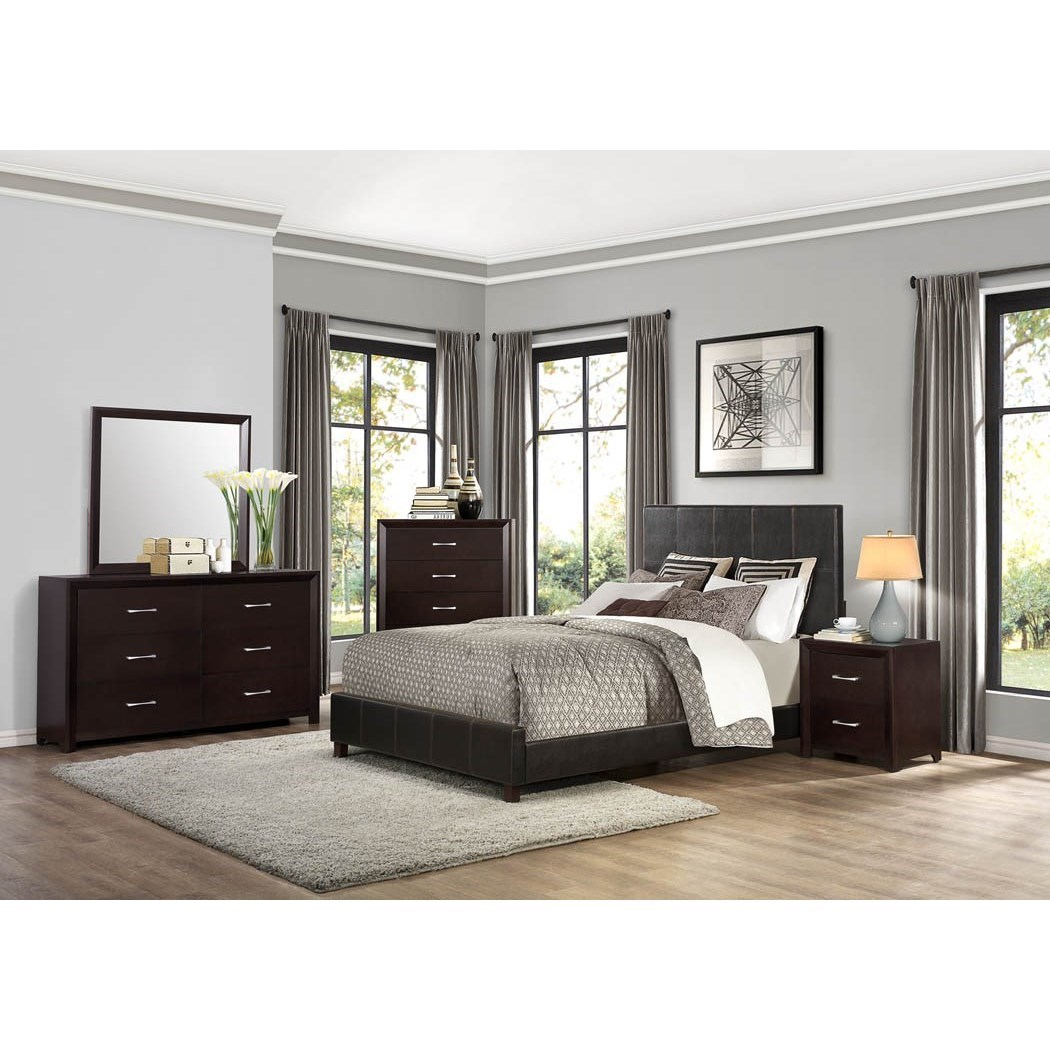 Homelegance edina contemporary queen bedroom group value for Bedroom groups