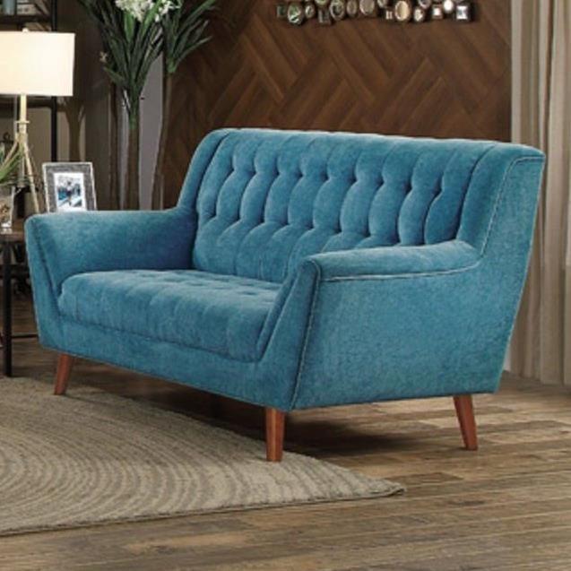 Homelegance erath mid century modern upholstered loveseat for Mid century modern furniture hawaii