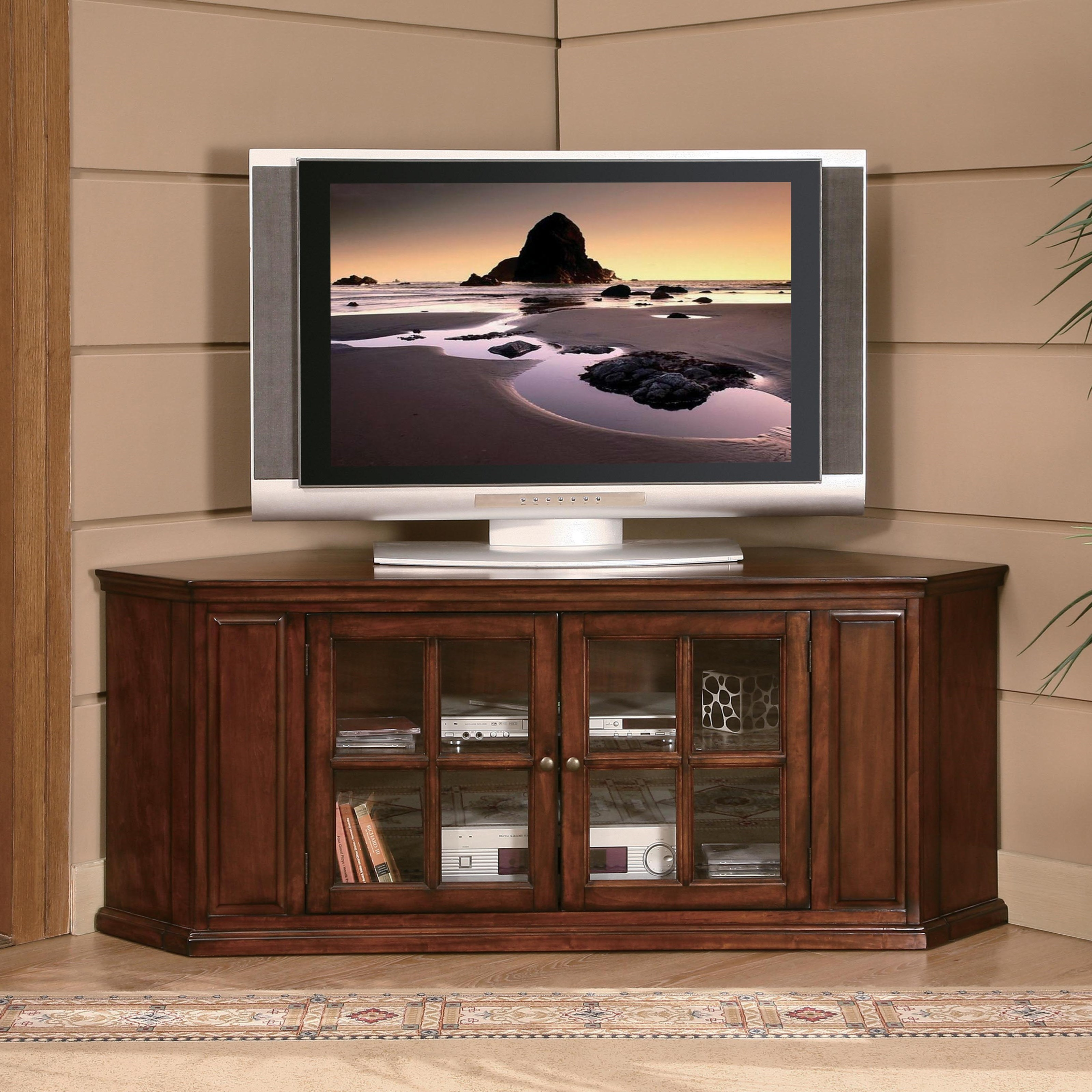 Homelegance Hayden Transitional TV Stand with Glass