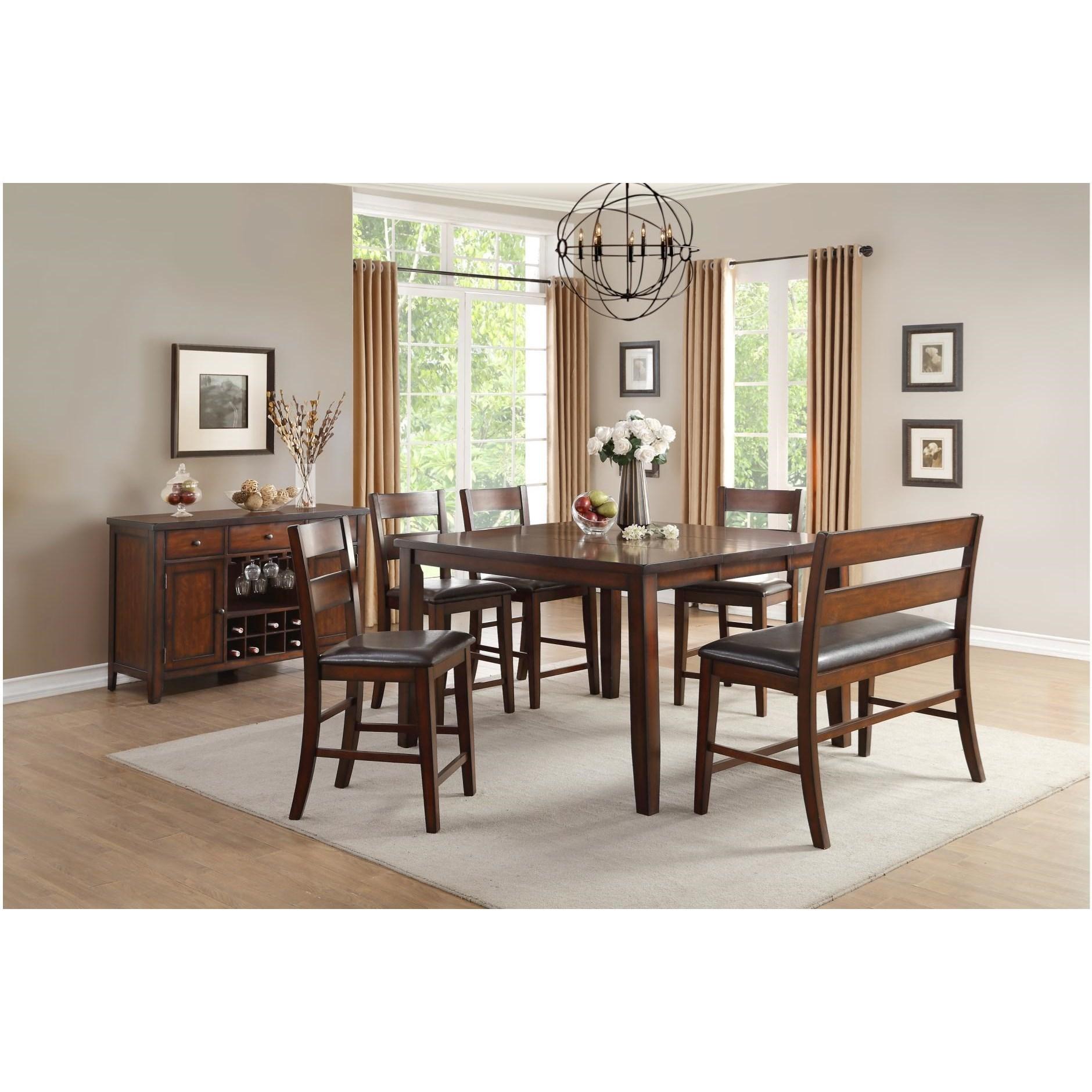 homelegance mantello casual dining room group beck 39 s. Black Bedroom Furniture Sets. Home Design Ideas