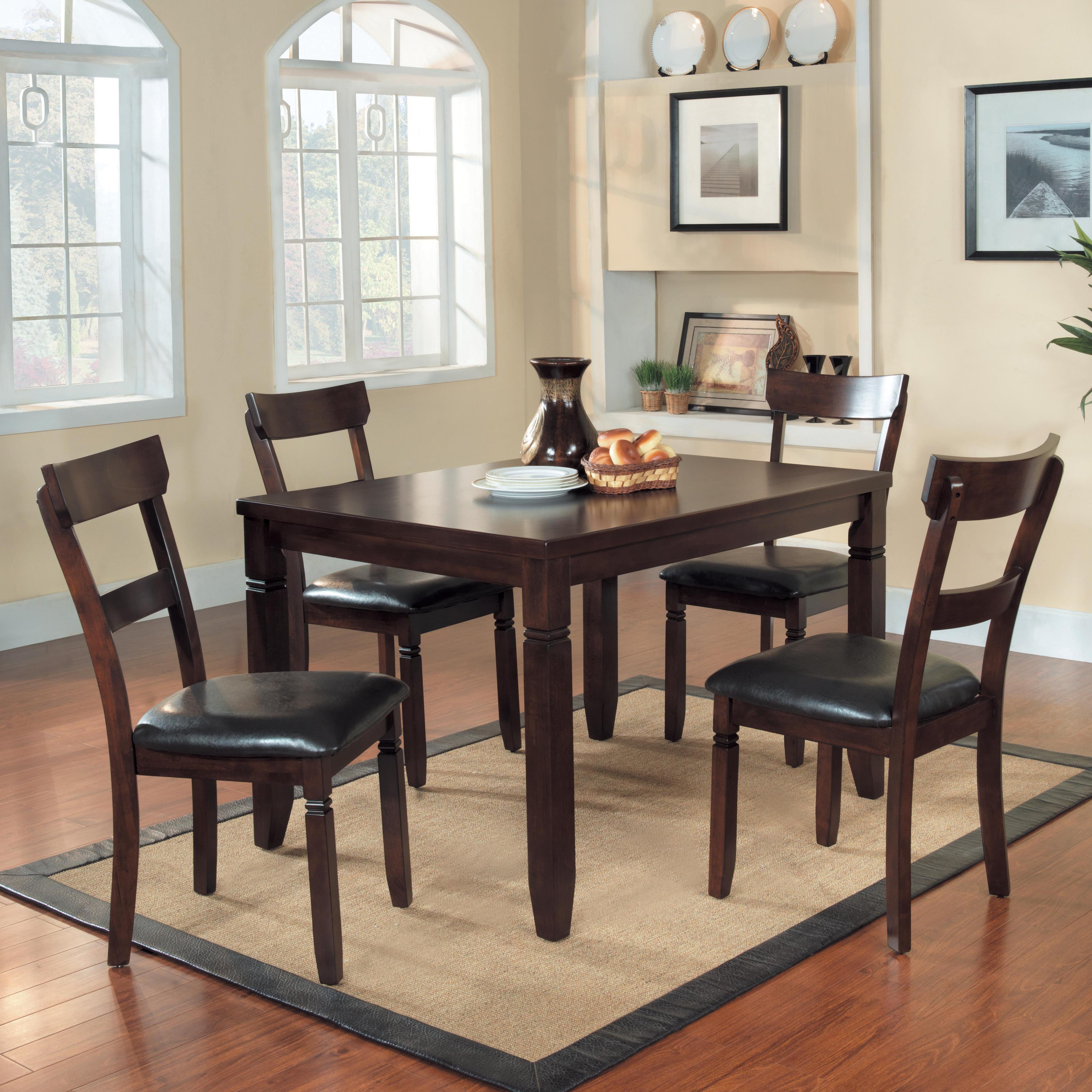table chair dinette set value city furniture dining 5 piece set