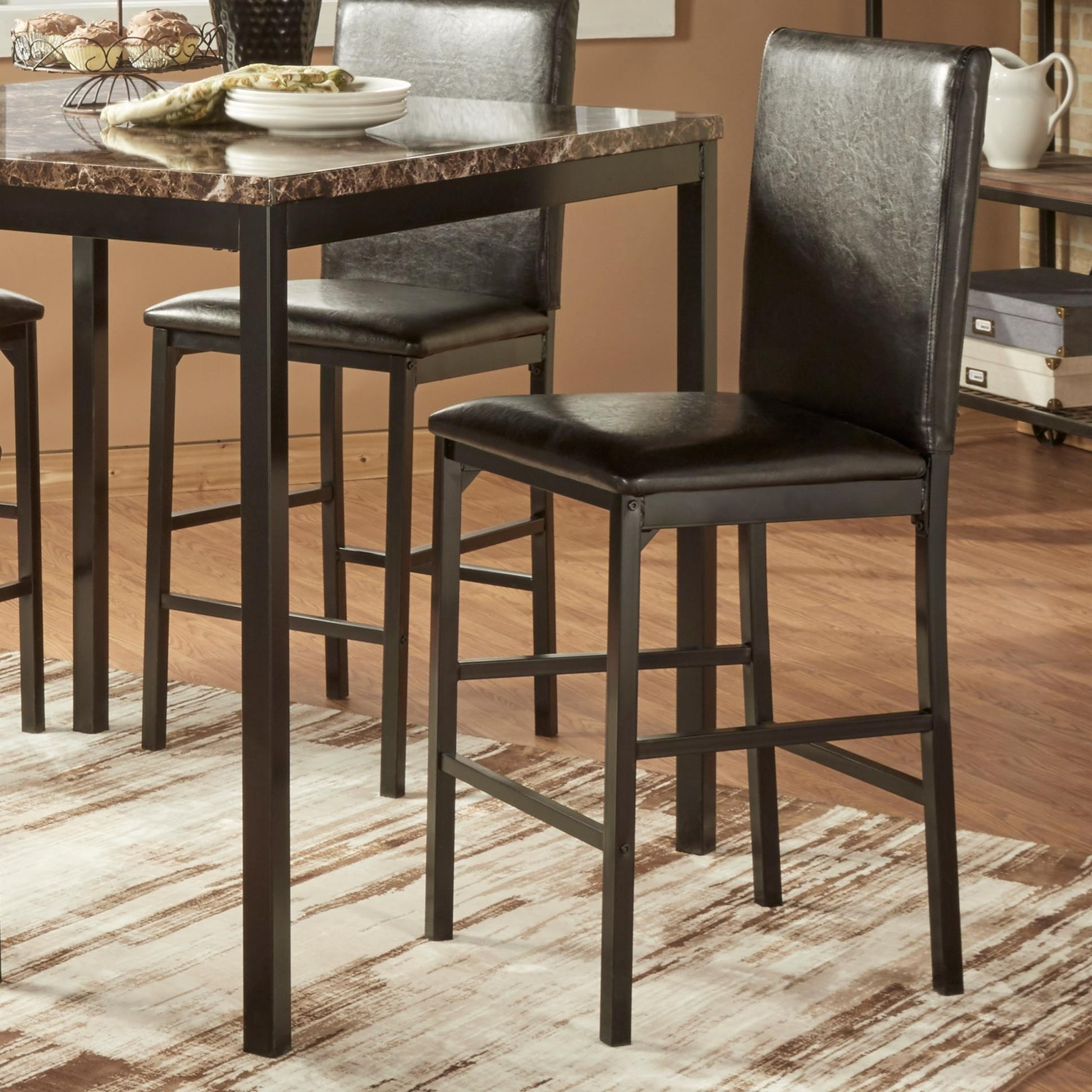 Homelegance Tempe Casual Upholstered Counter Height Stool
