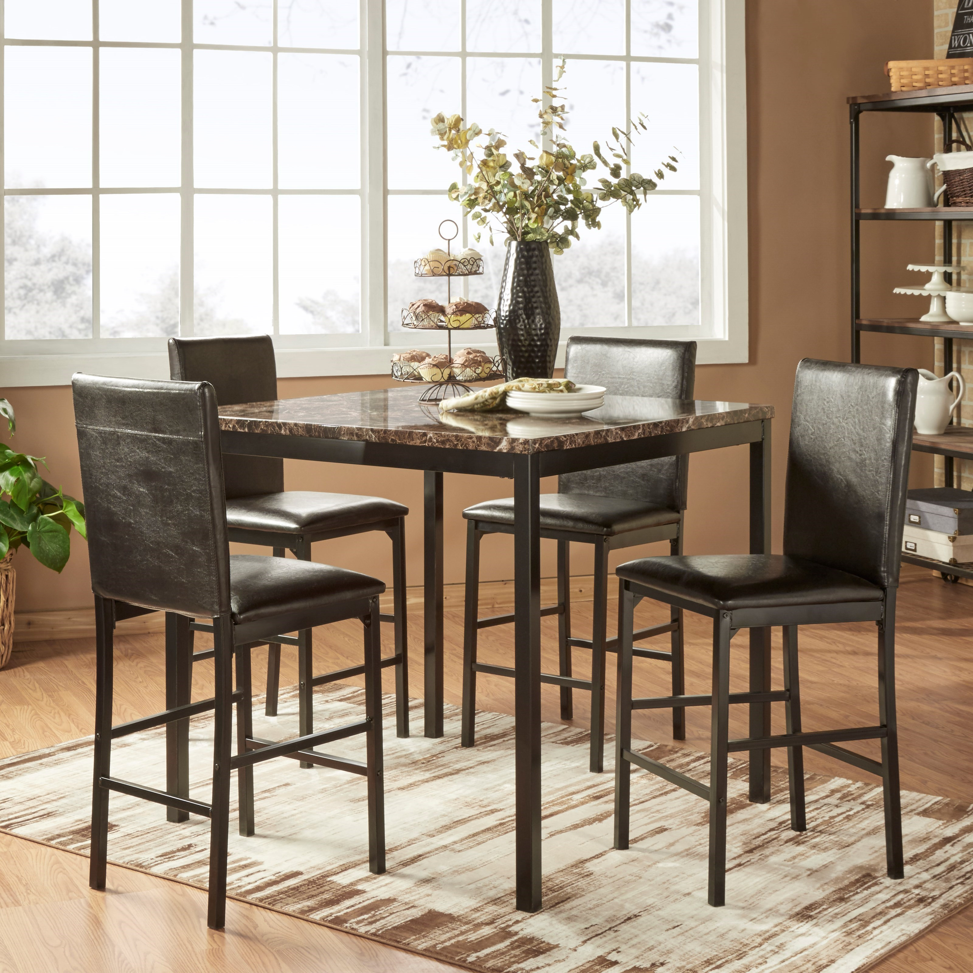 Homelegance tempe counter height table and chair set for Hudsons furniture