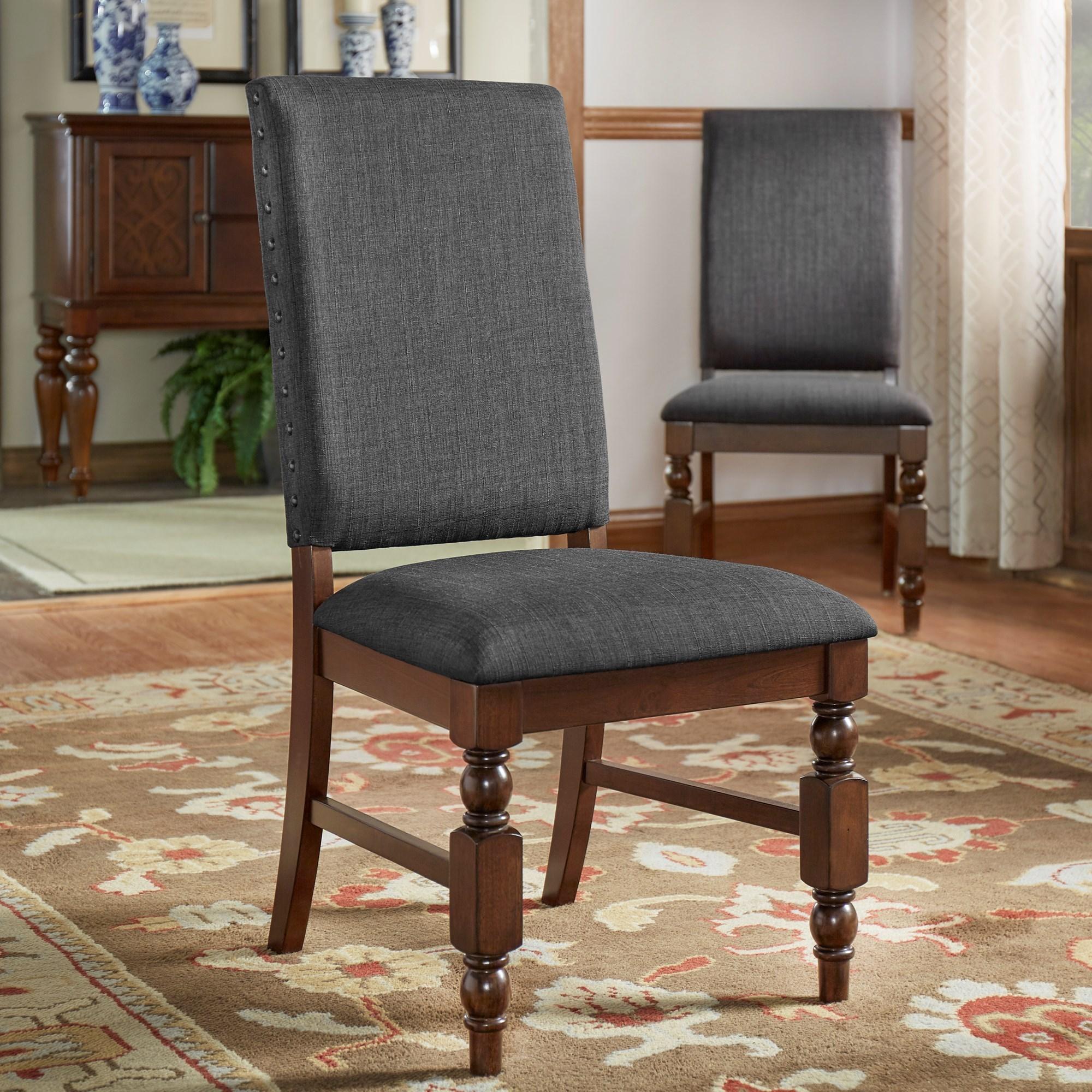 Homelegance yates 5167dgls upholstered side chair hudson for Hudsons furniture