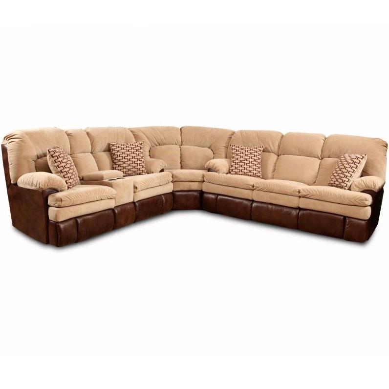 homestretch 103 chocolate series reclining corner With sectional sofa 103