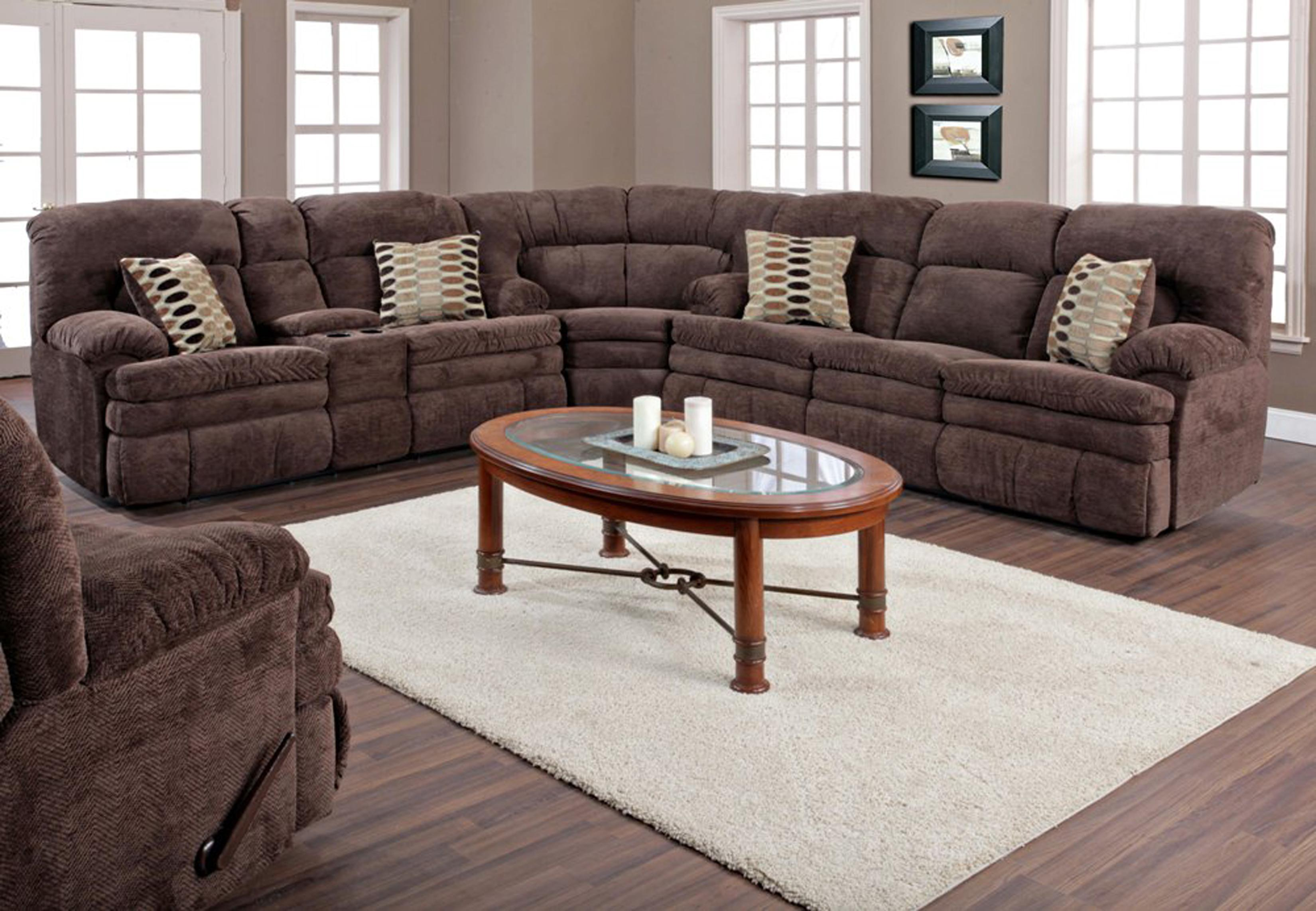 HomeStretch 103 3 Piece Casual Two Tone Reclining Sofa
