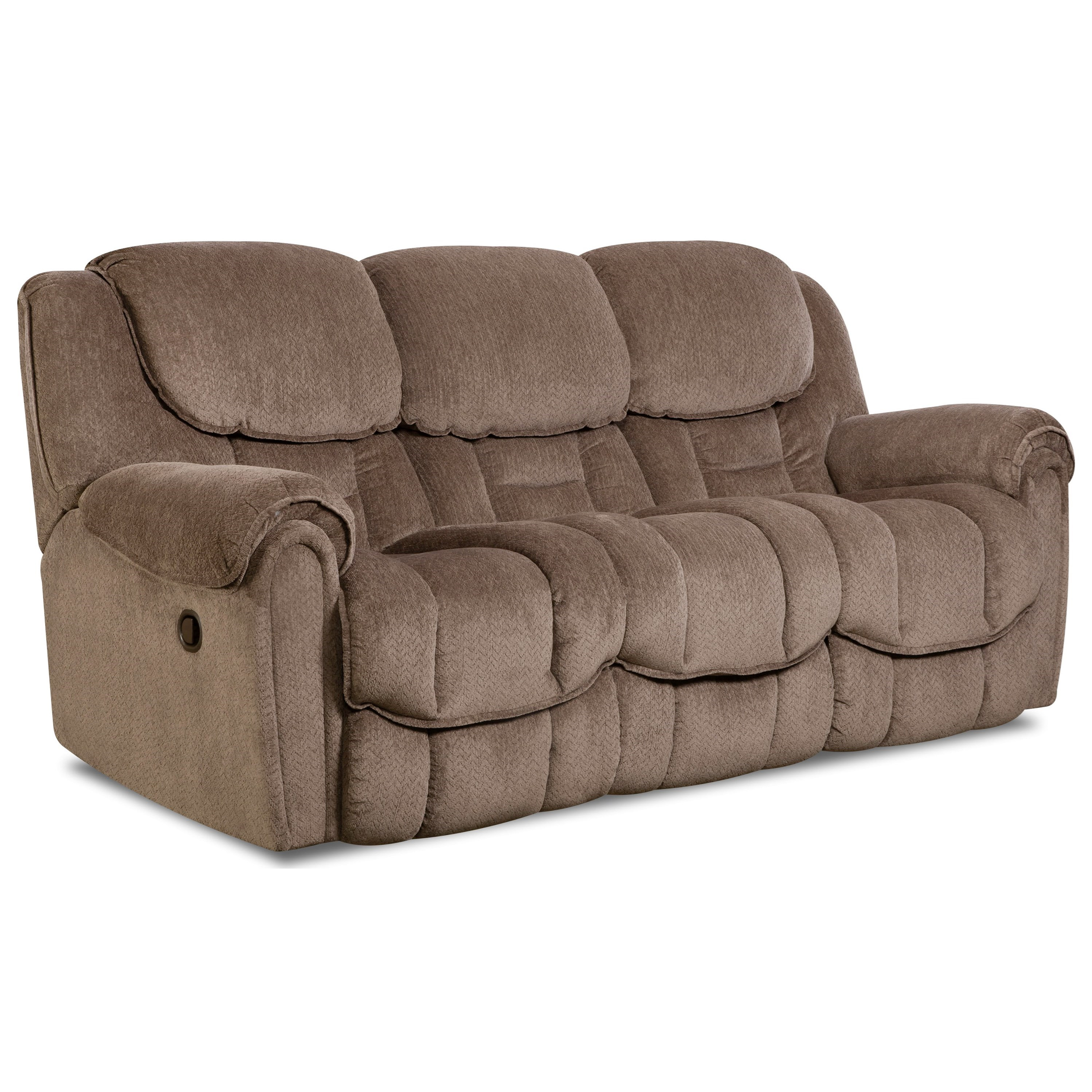 Comfort living baxter casual power reclining sofa with for Casual couch