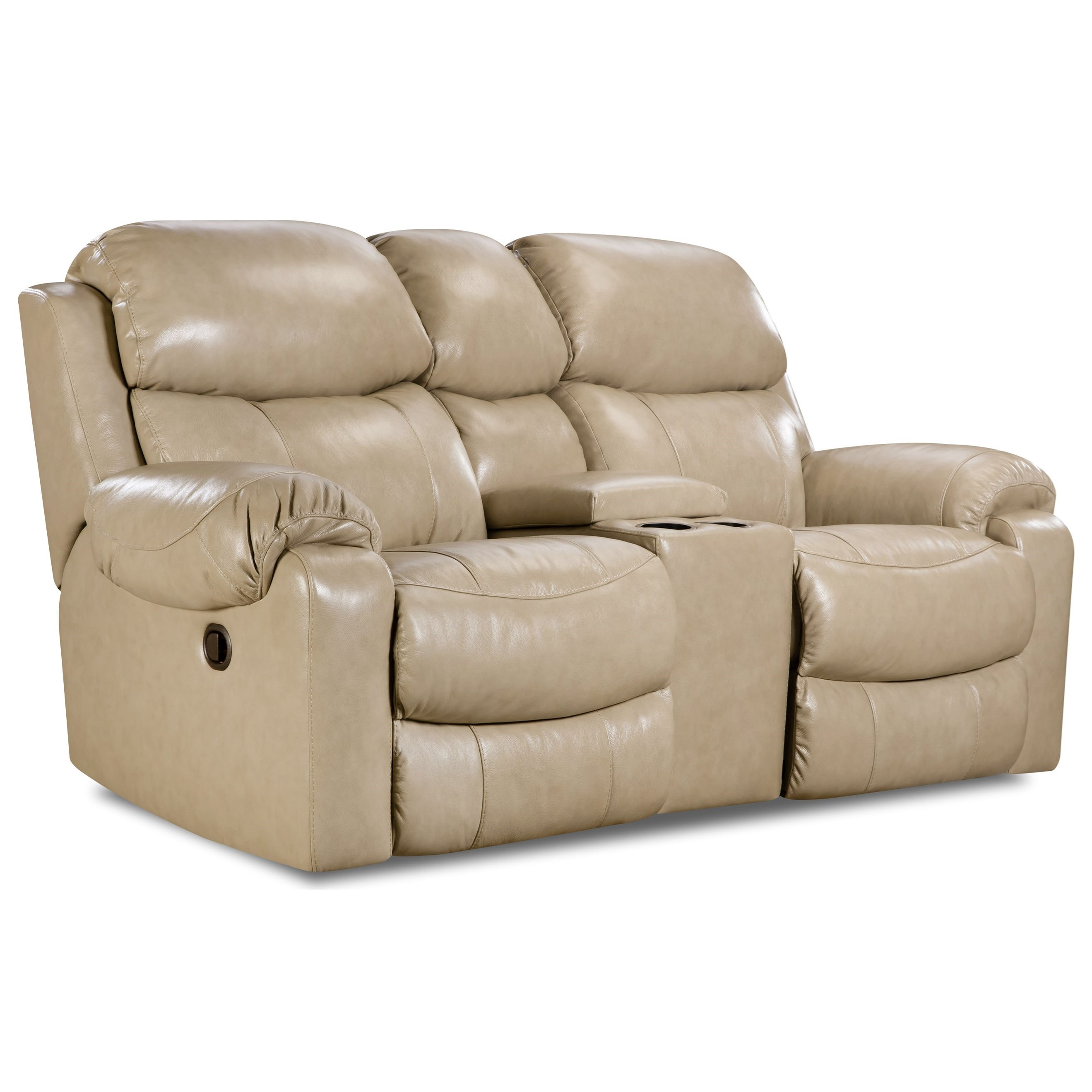 homestretch 135 collection power reclining loveseat with center console vandrie home. Black Bedroom Furniture Sets. Home Design Ideas