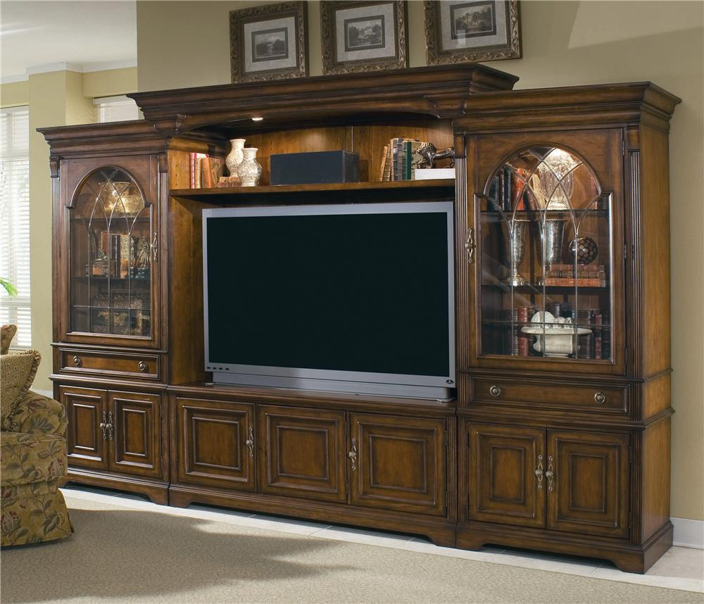 Hooker furniture brookhaven entertainment center with Entertainment living room furniture