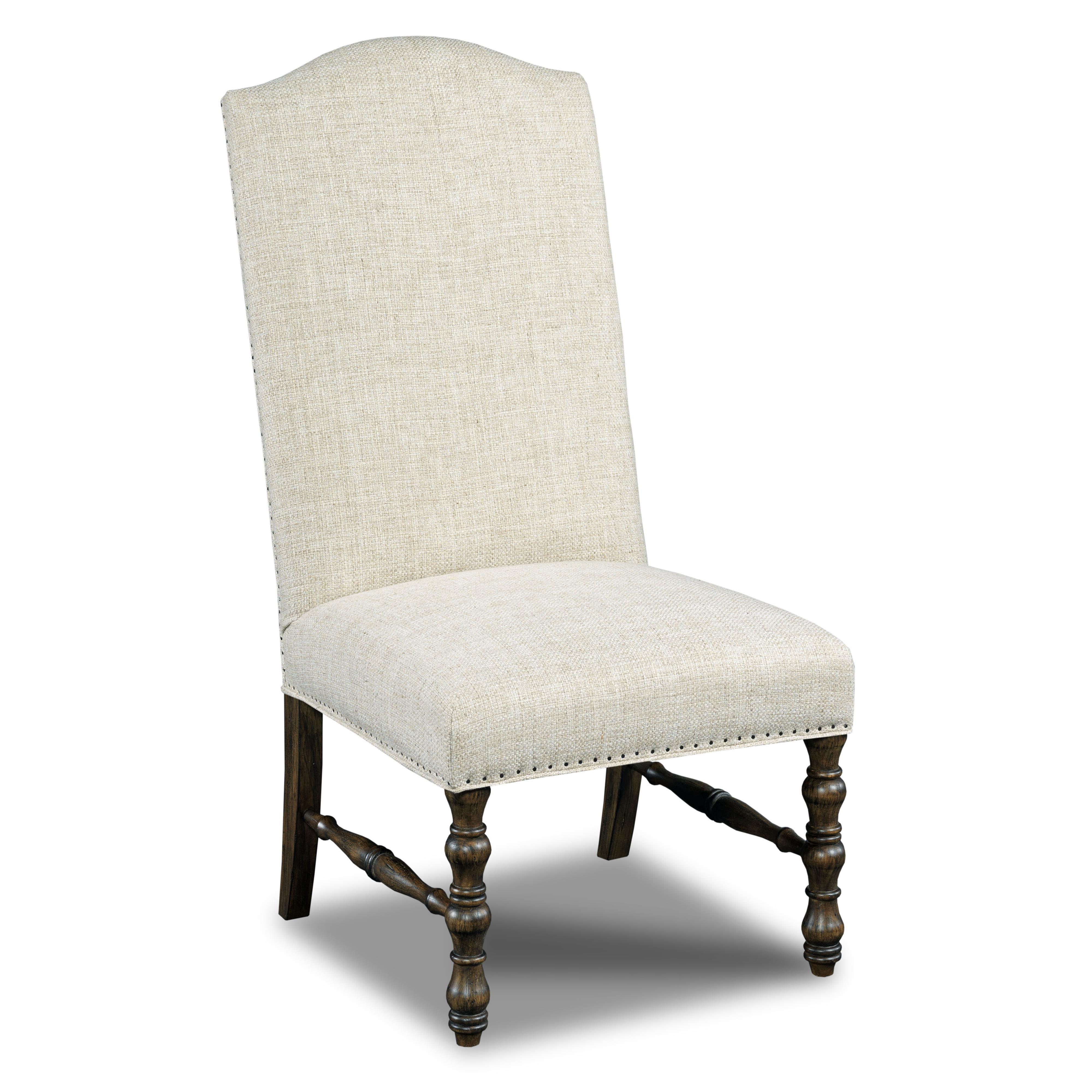 Hooker furniture dining chairs upholstered armless dining for Dining chairs with upholstered seats
