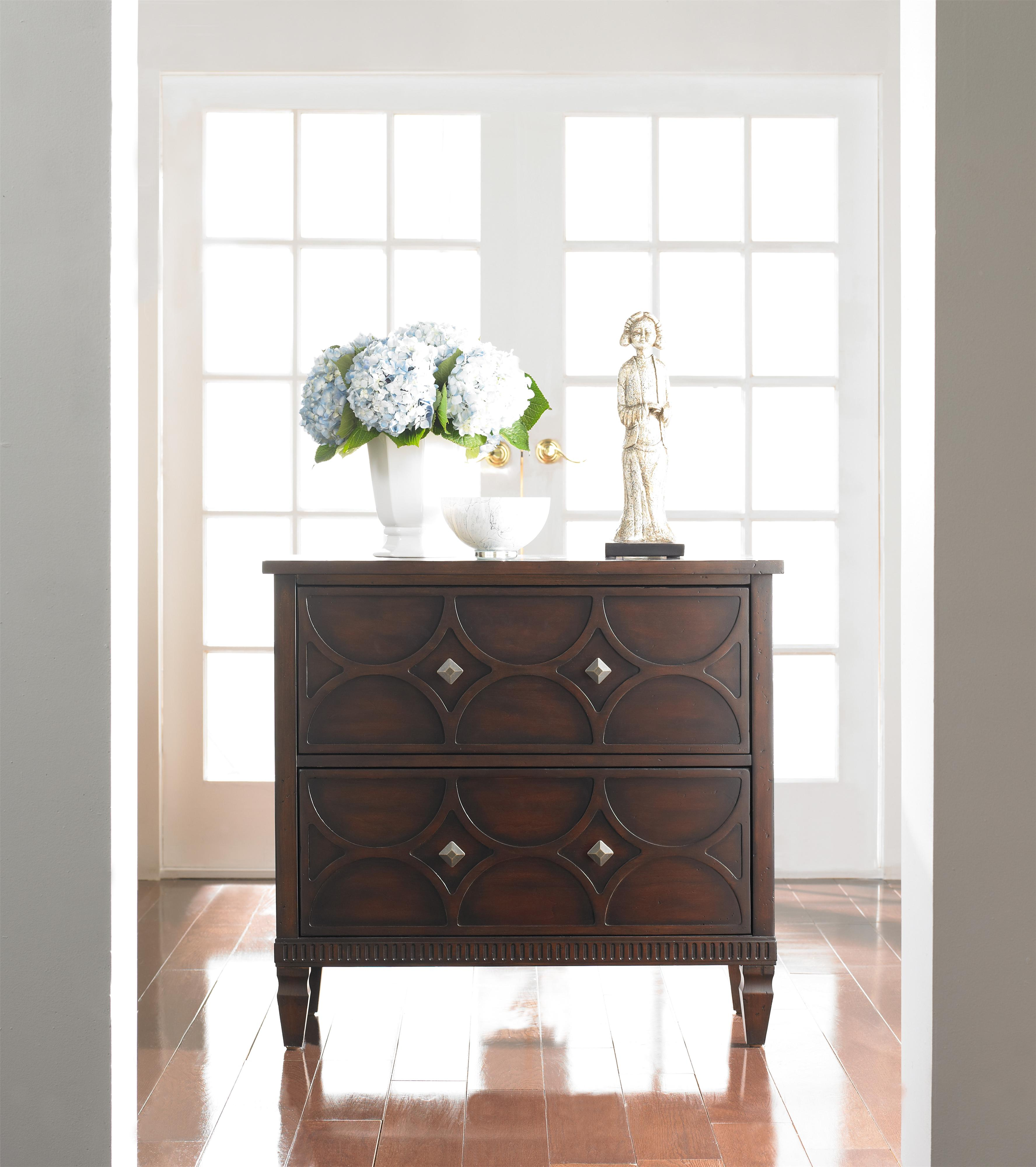 Hooker Furniture Living Room Accents Two-Drawer Accent ...