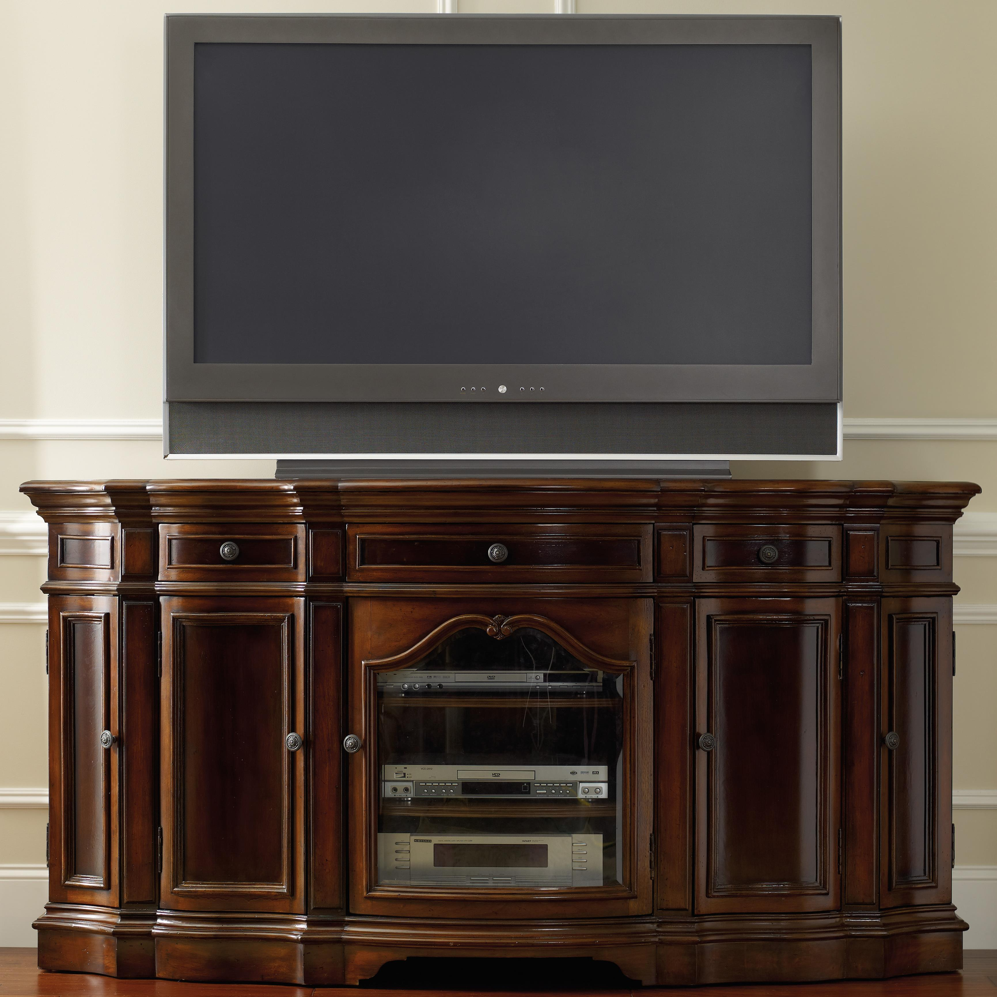 Hooker Furniture Living Room Accents Entertainment 74 Console With 5 Doors Belfort Furniture