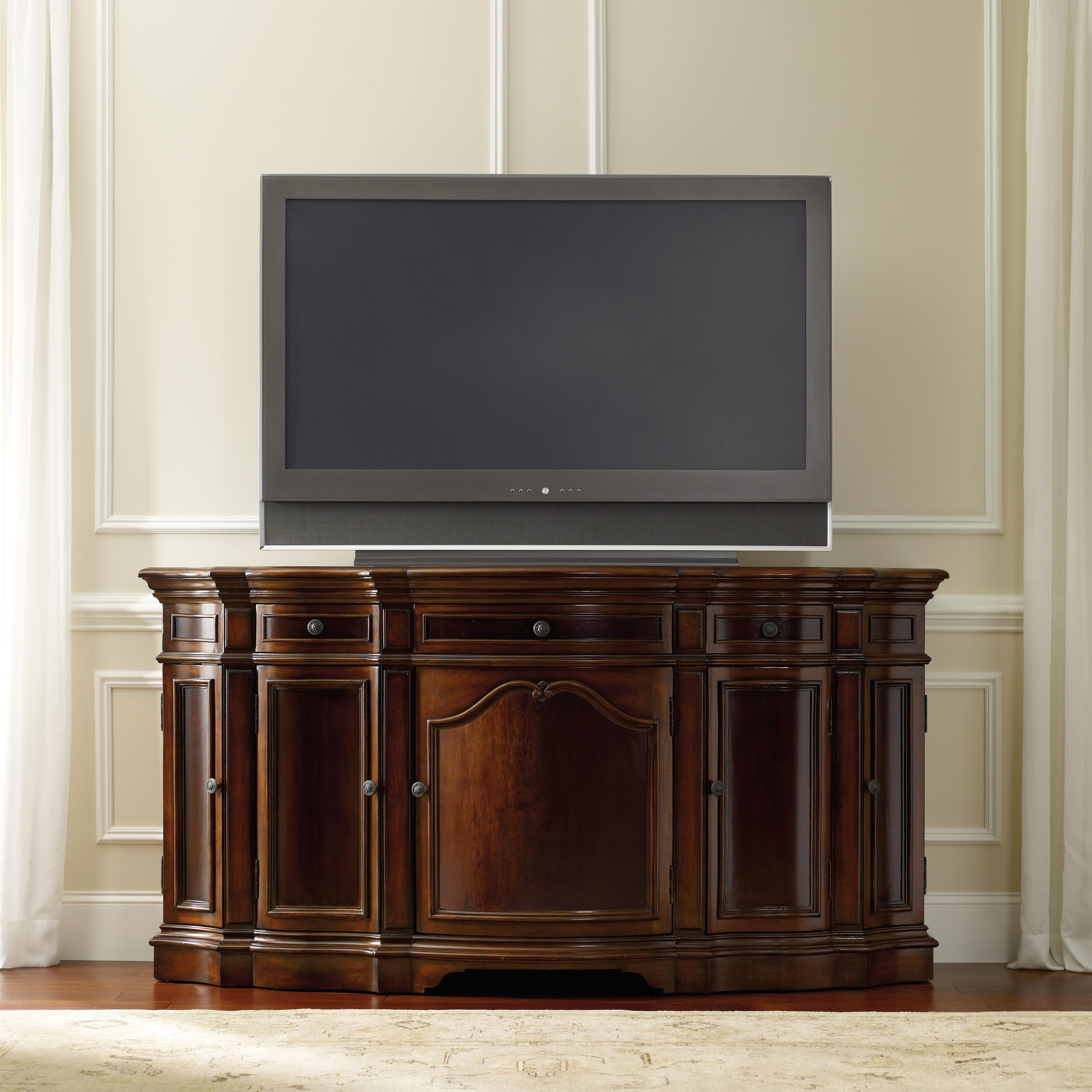 Hooker Furniture Living Room Accents 5139 55496 Entertainment 74 Console With 5 Doors Baer 39 S