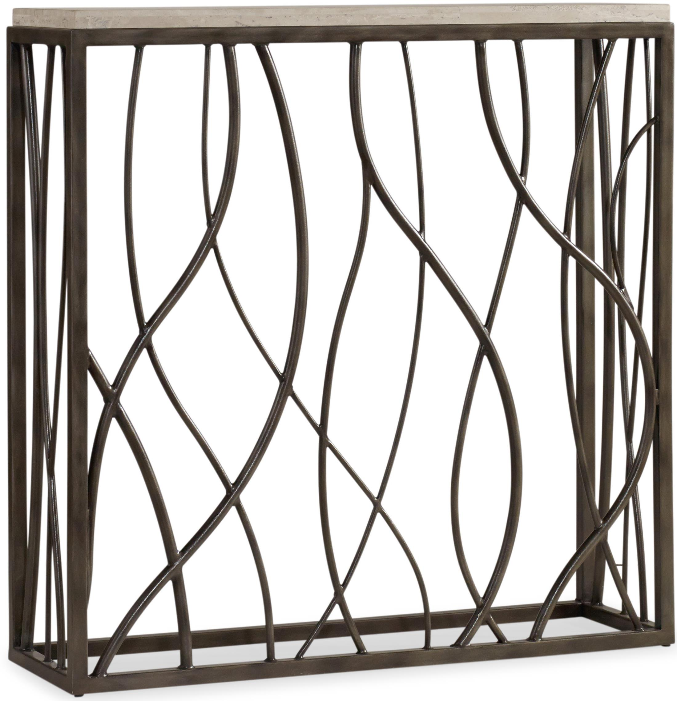 Living Room Accents Thin Metal Console by Hooker Furniture at Suburban Furniture