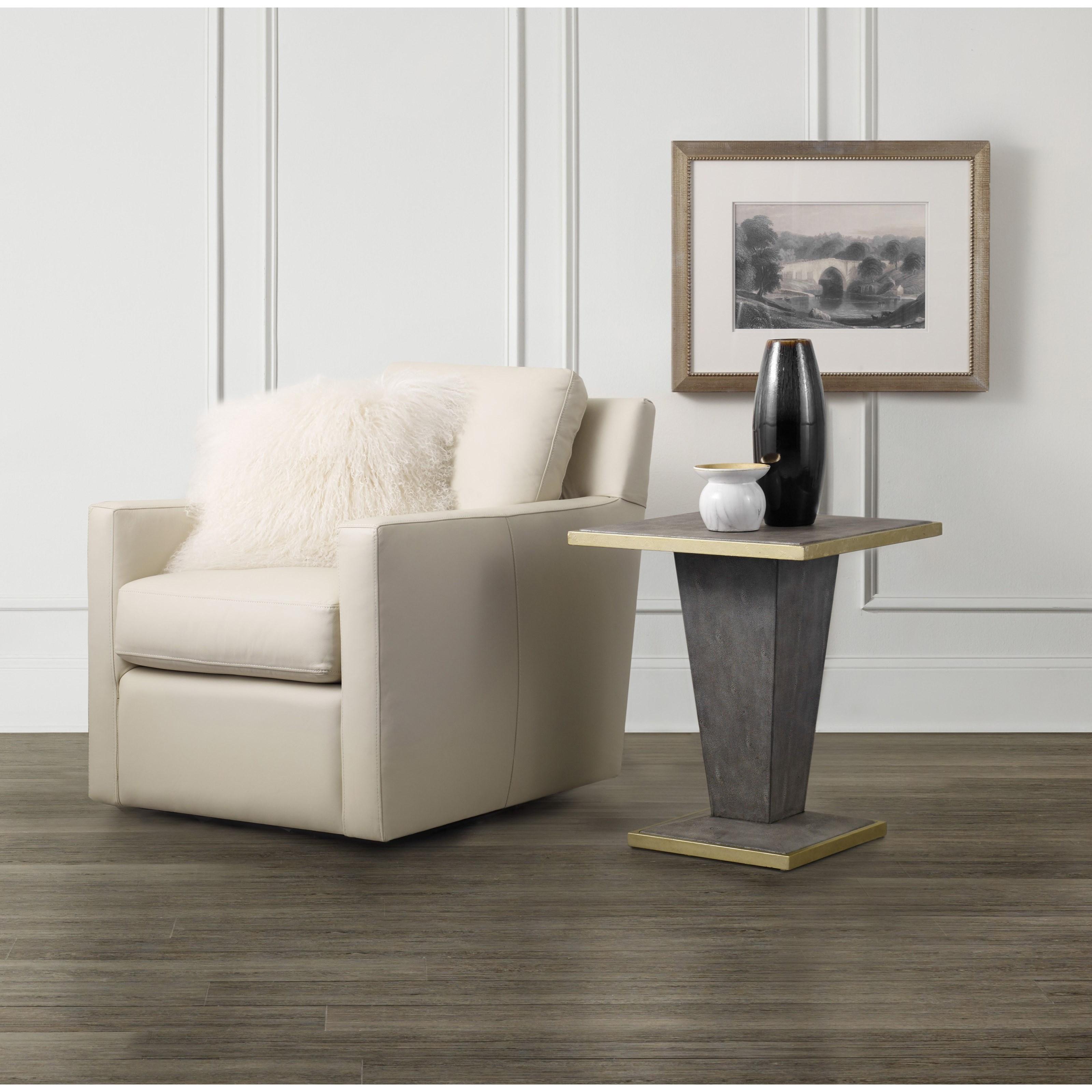 Hooker Furniture Living Room Accents Square Shagreen End Table Belfort Furniture End Tables