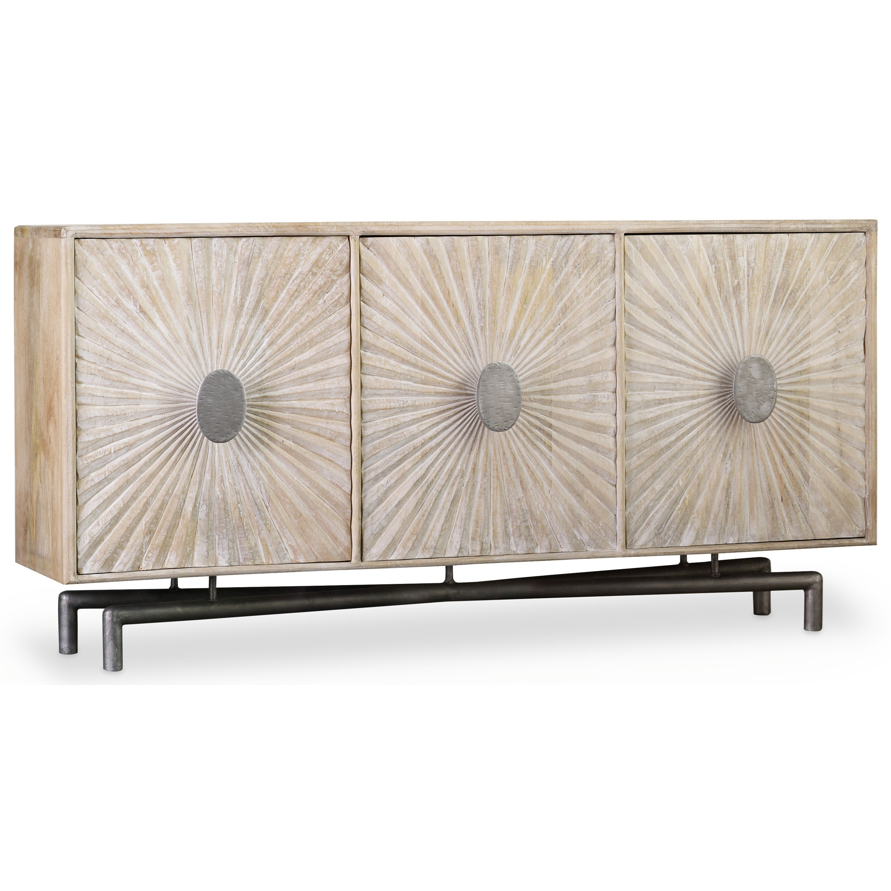 Living Room Accents 68 Inch Entertainment Console by Hooker Furniture at Zak's Home