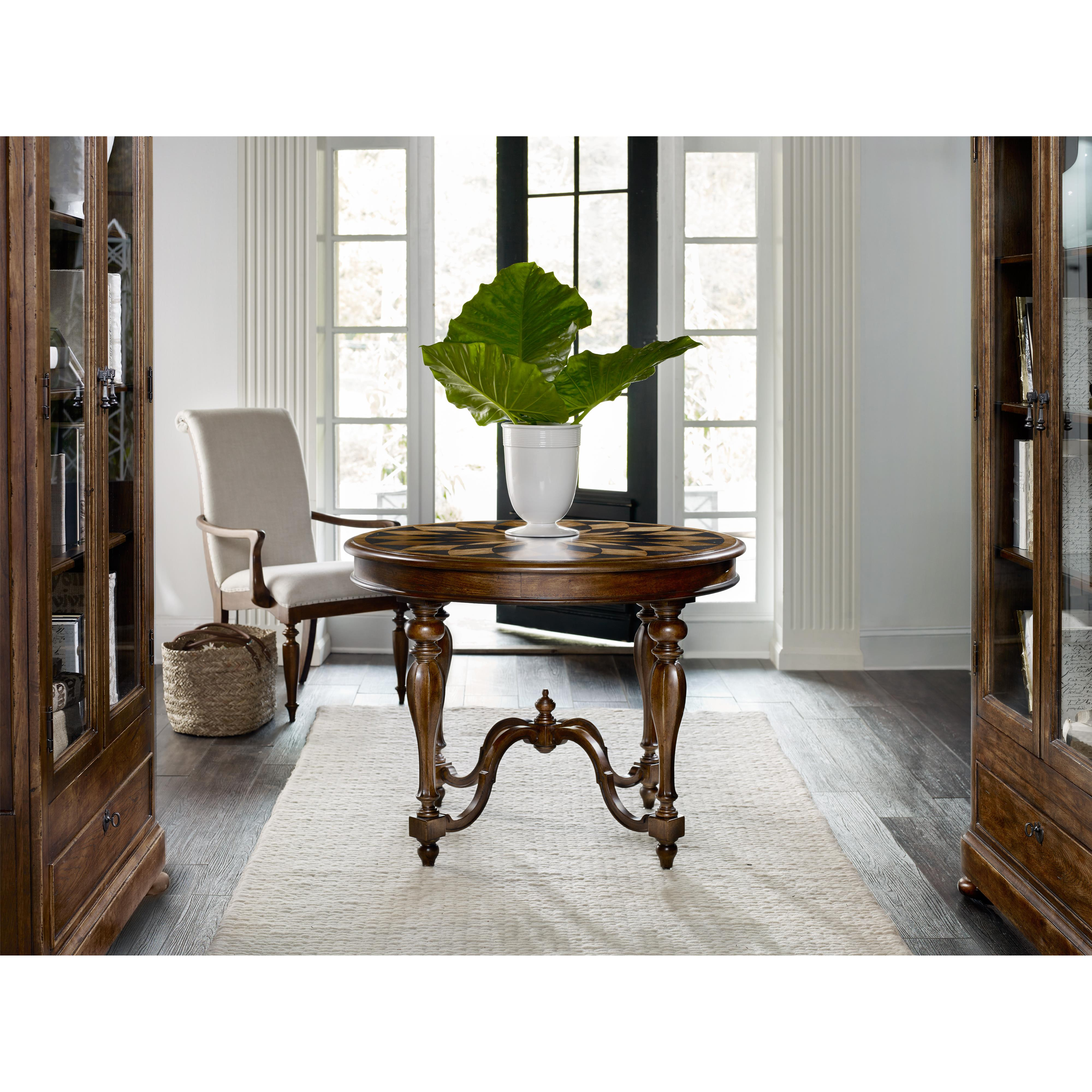 Hooker furniture archivist 5447 85007 center table with for Center table legs