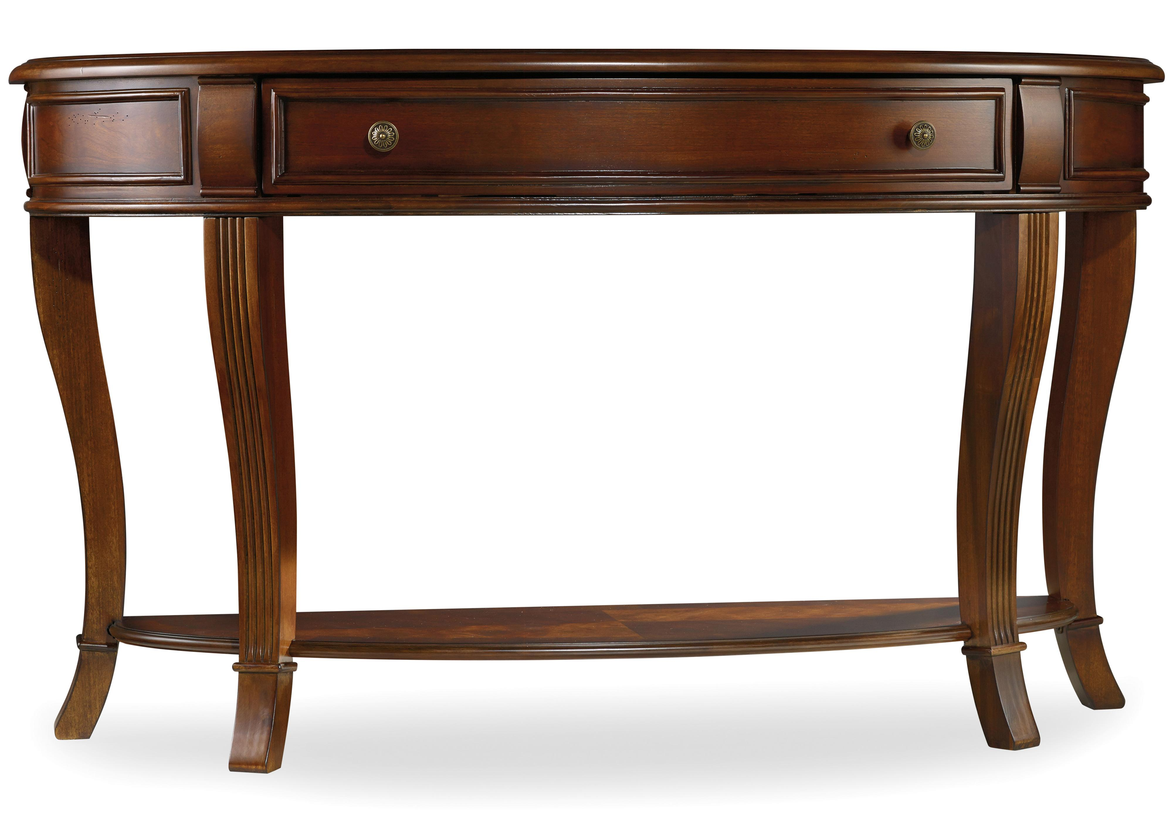 Hooker furniture brookhaven sofa table with one drawer for Sofa table rules