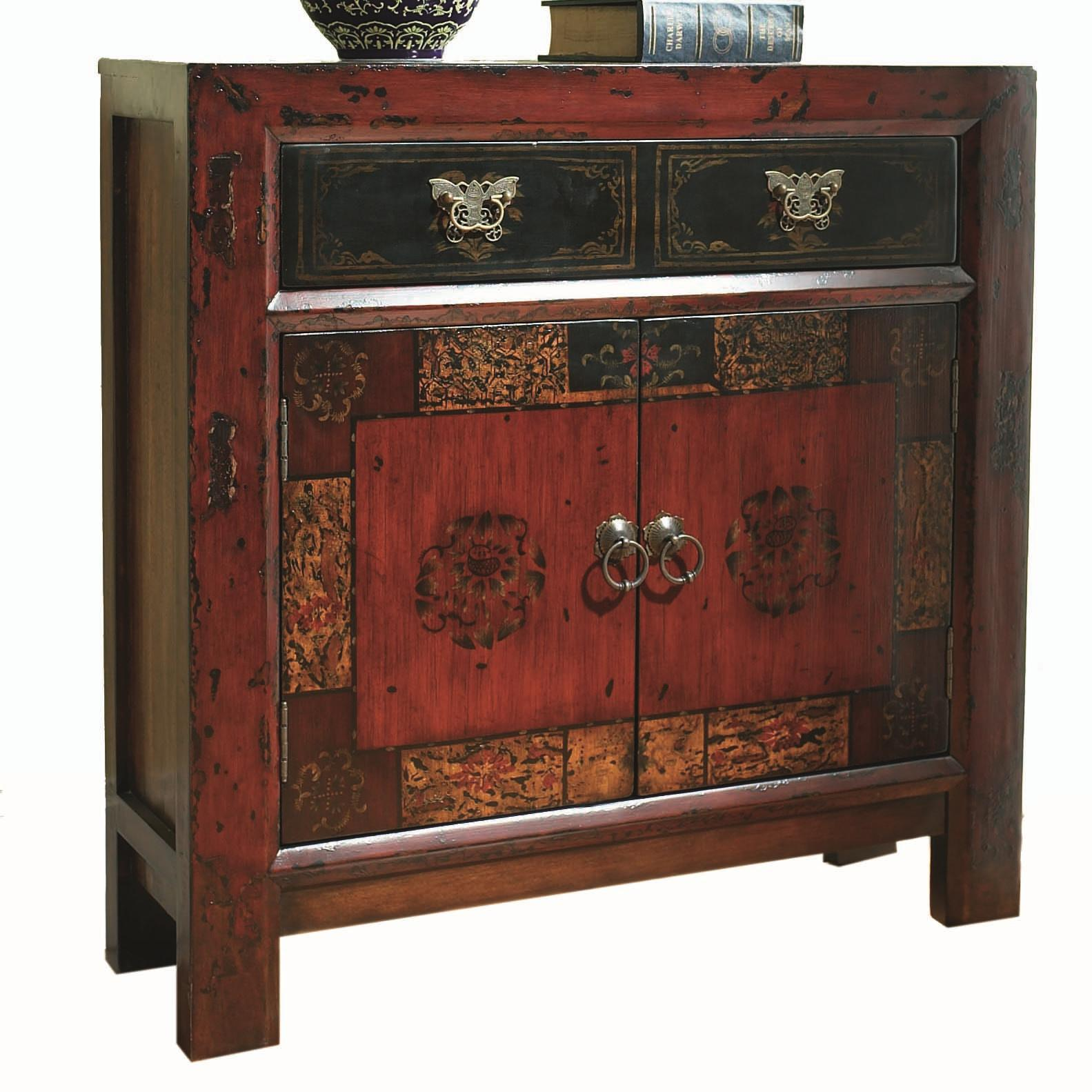 Hamilton home chests and consoles asian two door one for Asian console cabinet