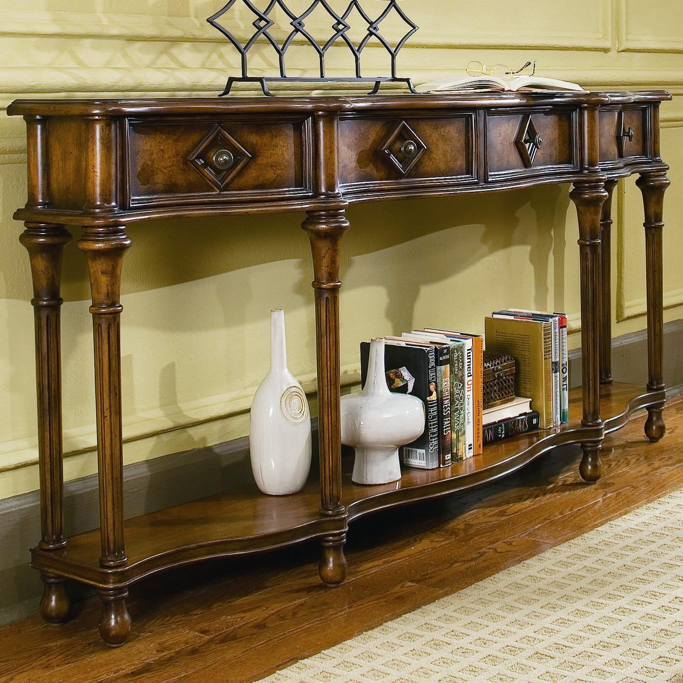 Hooker furniture chests and consoles 72 inch hall console for Sofa table 72